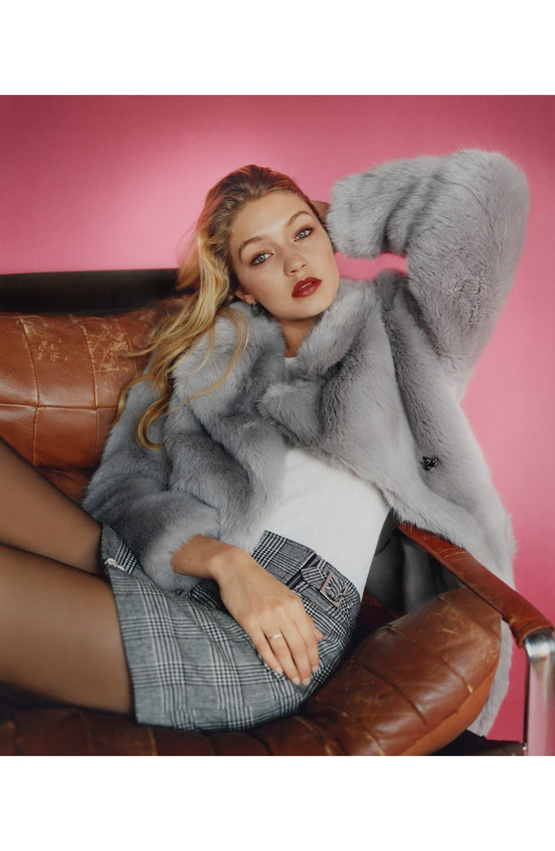 Alternate Image 7  - Topshop 'Claire' Faux Fur Coat