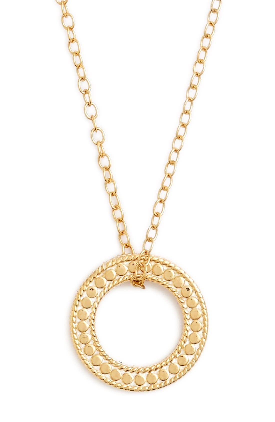 Jewelry That Makes a Difference Circle of Life Pendant Necklace,                             Main thumbnail 1, color,                             Gold