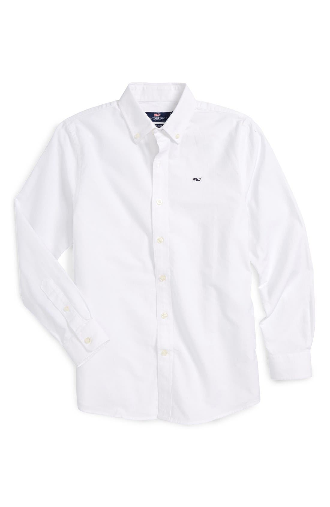 Alternate Image 1 Selected - vineyard vines Woven Oxford Shirt (Big Boys)