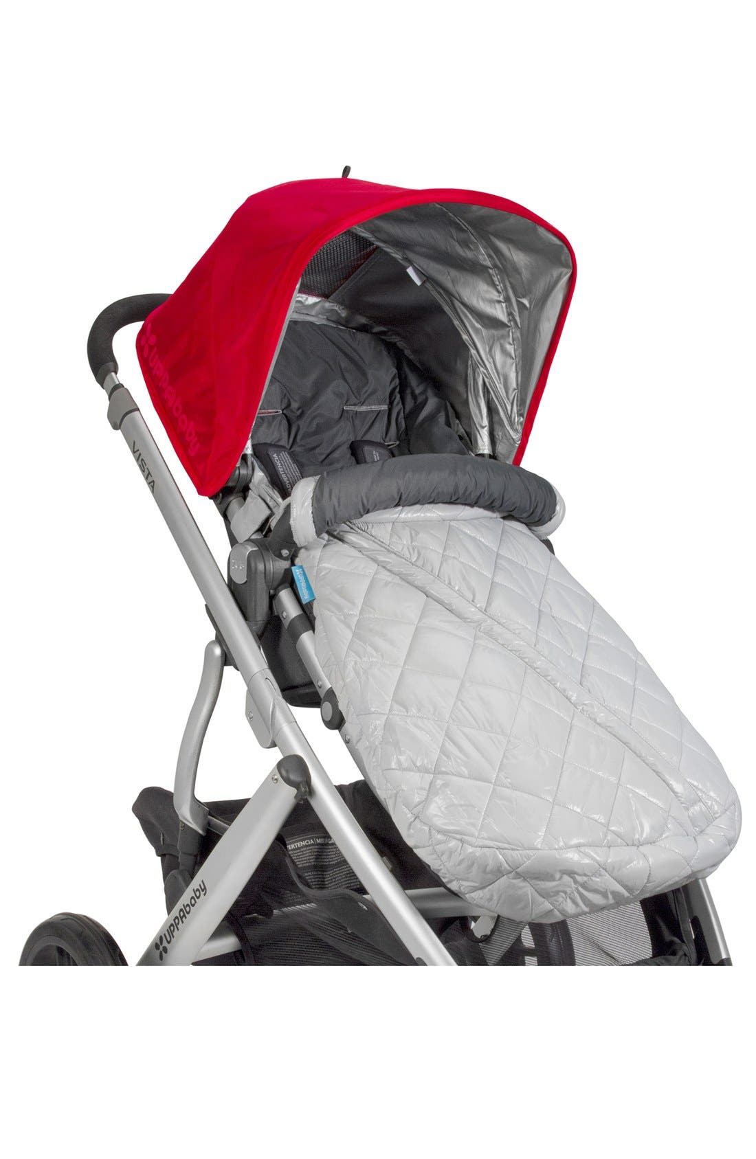 Ganoosh Water Repellent & Insulated Stroller Footmuff,                             Main thumbnail 1, color,                             Grey