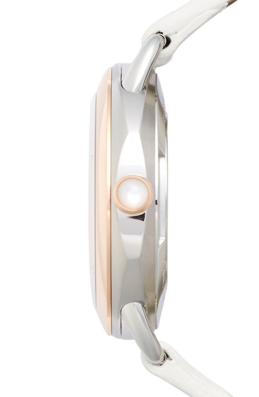 Alternate Image 3  - Fendi 'Selleria' Leather Strap Watch, 36mm