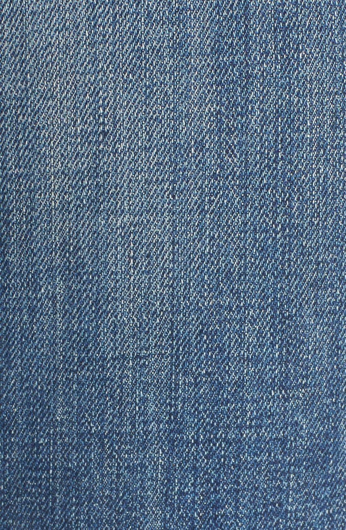 Alternate Image 5  - rag & bone/JEAN 'Dre' High Rise Boyfriend Skinny Jeans (Exeter)