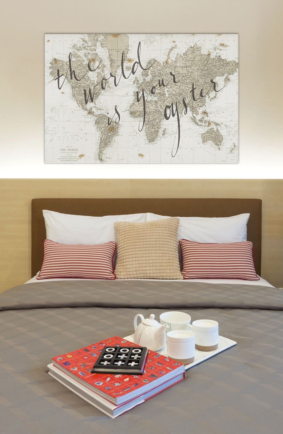 'The World is Your Oyster' Giclée Print Canvas Art,                             Alternate thumbnail 2, color,                             White