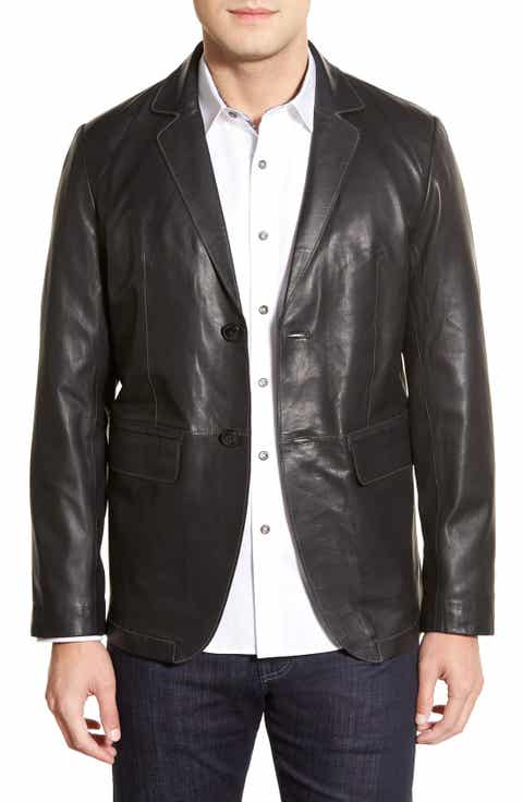 Leather (Genuine) Blazers & Sport Coats for Men | Nordstrom