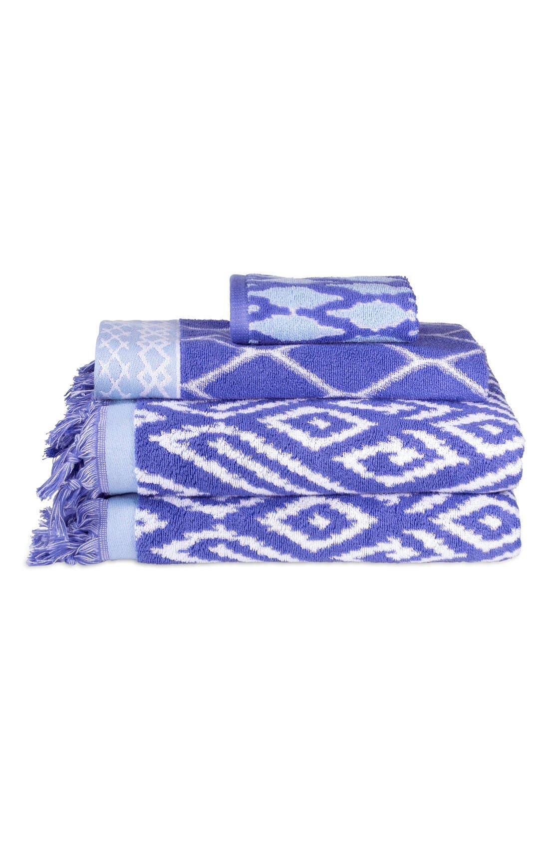 'Kalasin' Turkish Cotton Bath Towel,                         Main,                         color, Periwinkle