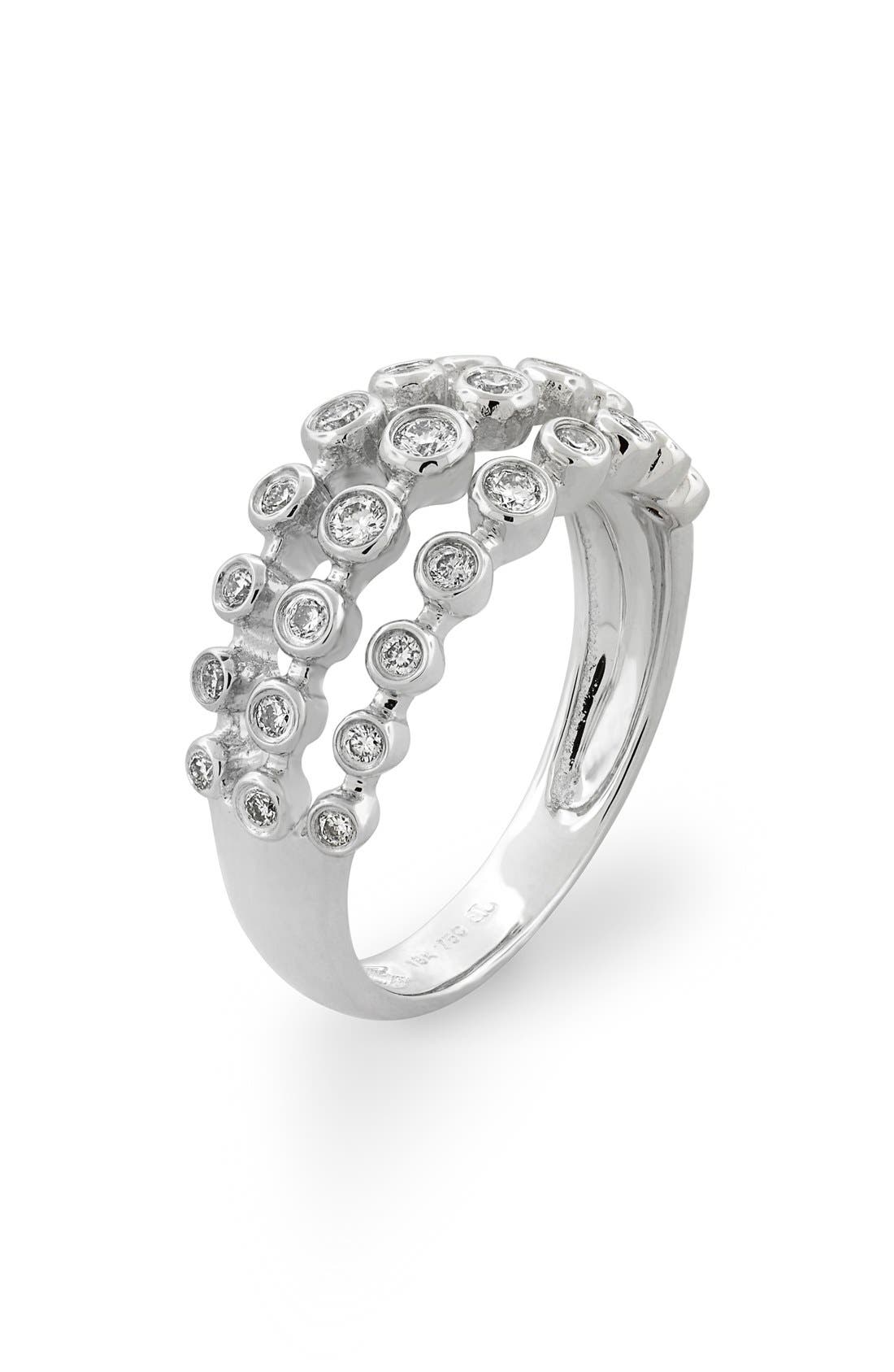 BONY LEVY Amara Three-Row Bezel Diamond Ring