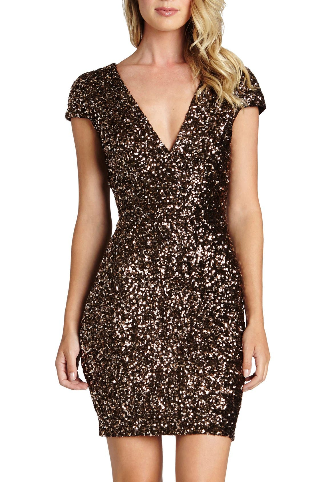 Alternate Image 1 Selected - Dress the Population Zoe Sequin Minidress (Nordstrom Exclusive)