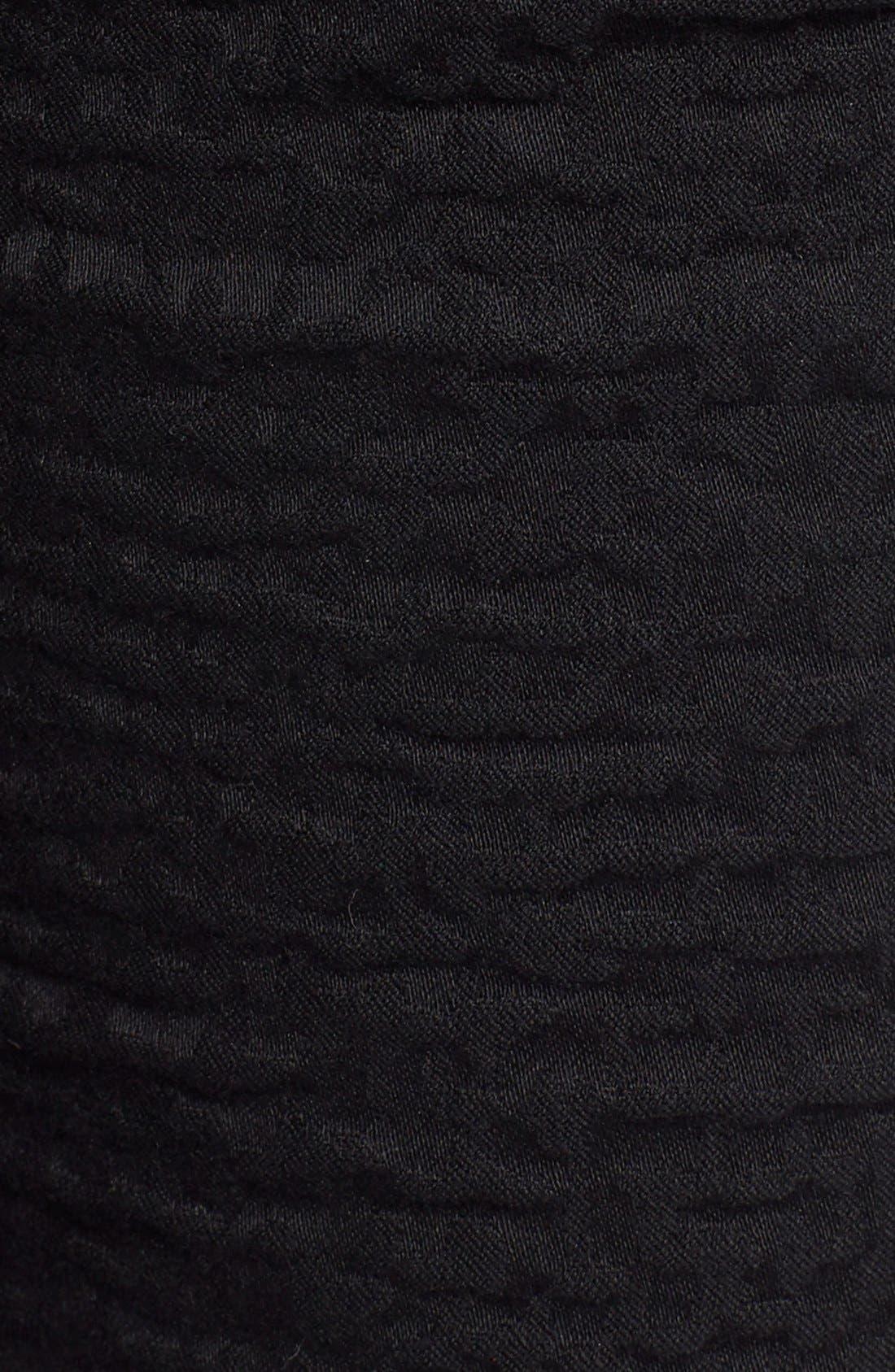 Alternate Image 5  - Lafayette 148 New York Curvy Fit Jacquard Stretch Slim Leg Jeans (Black) (Regular & Petite)