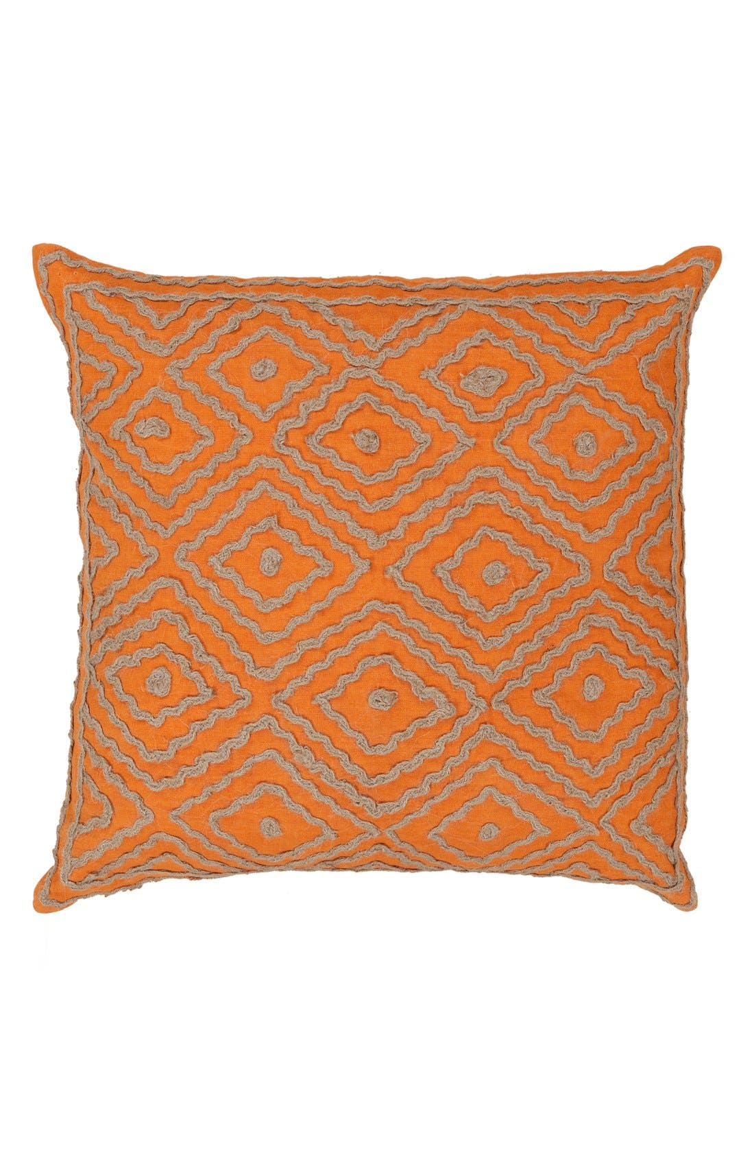 'Atlas' Pillow,                             Main thumbnail 1, color,                             Burnt Orange/ Taupe