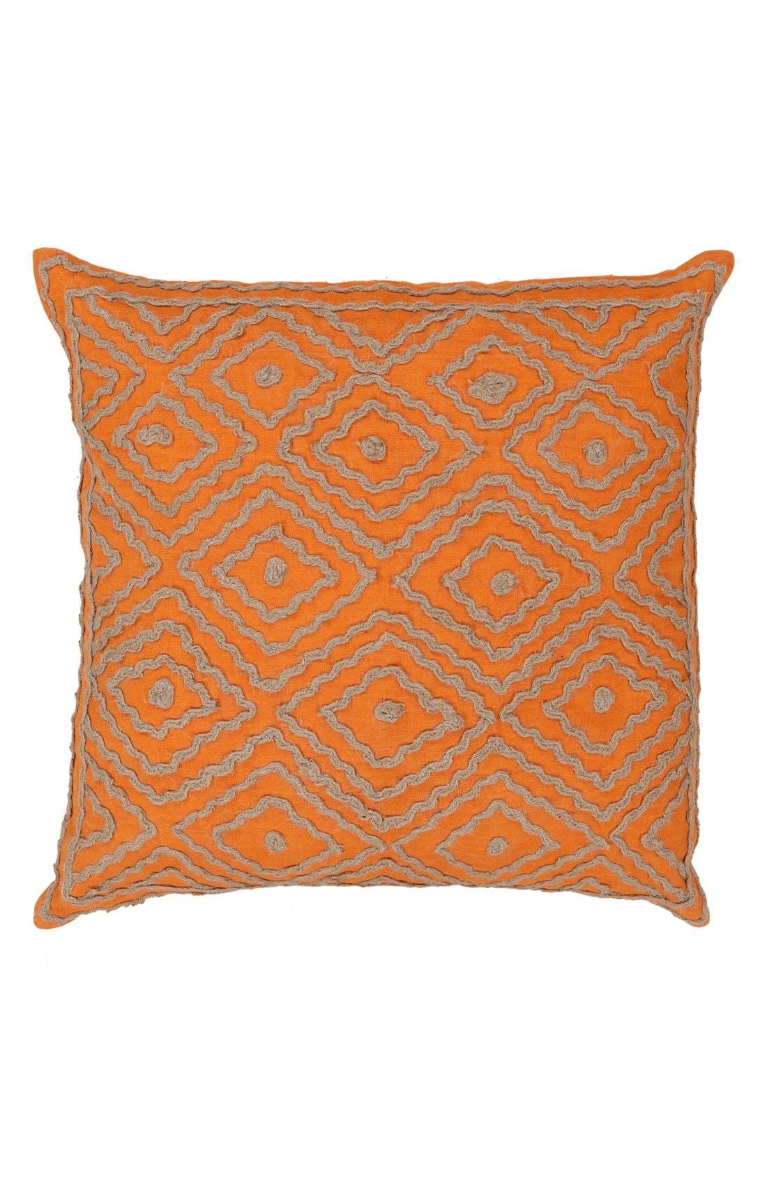 'Atlas' Pillow,                         Main,                         color, Burnt Orange/ Taupe