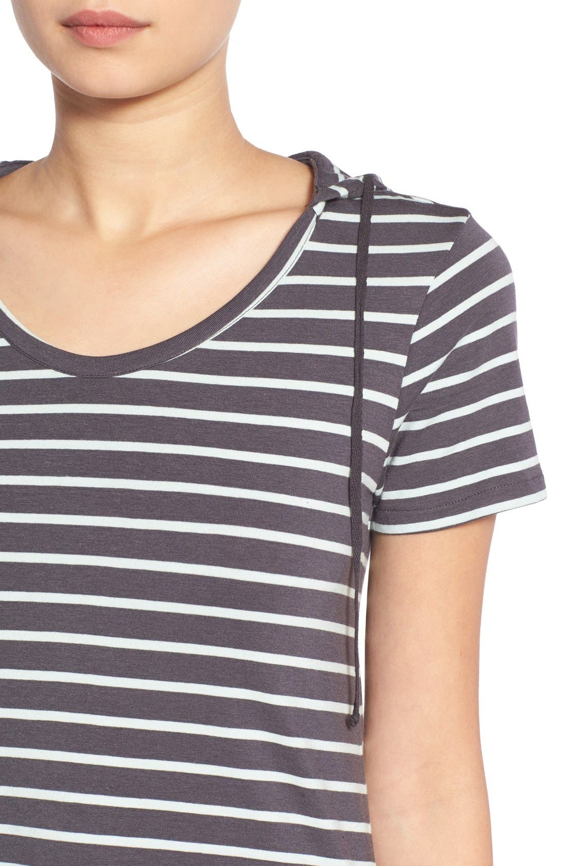 Alternate Image 4  - Element Stripe Hooded Dress