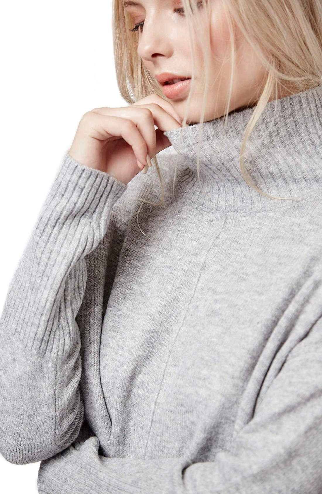 Alternate Image 5  - Topshop Oversize Funnel Neck Sweater