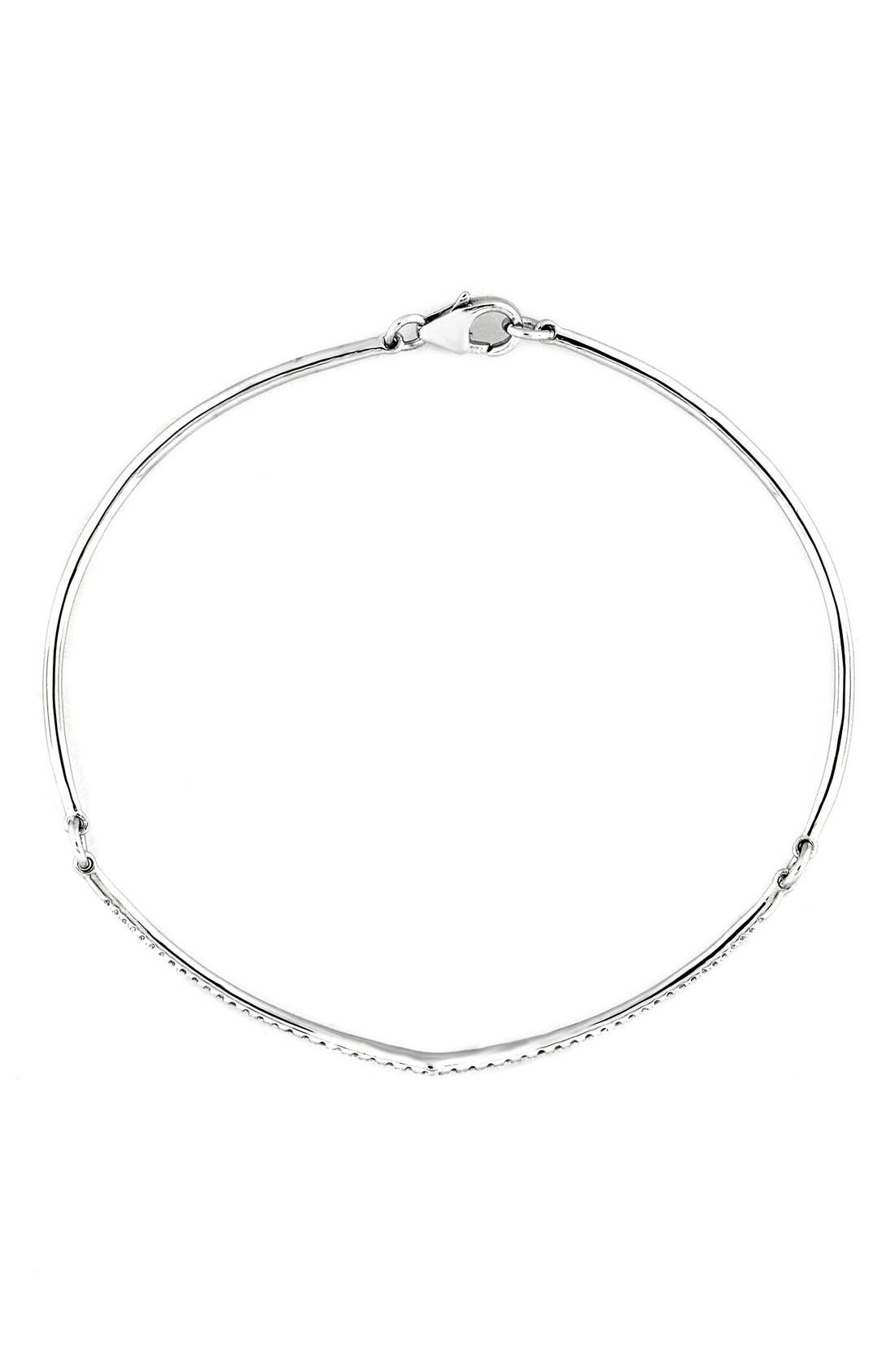 BONY LEVY Pavé Diamond Bangle Bracelet
