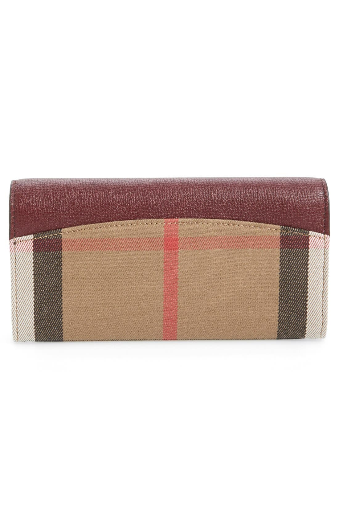 Alternate Image 4  - Burberry 'Porter - Check' Continental Wallet