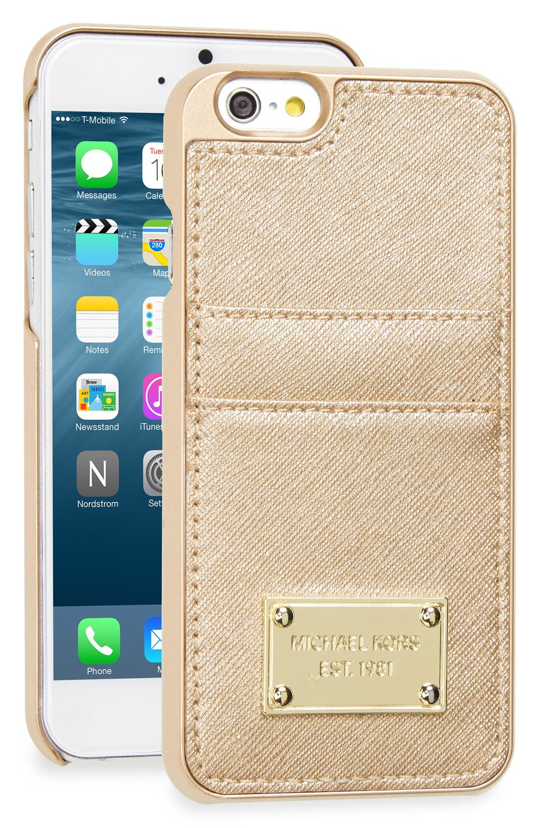 michael kors iphone case michael michael kors metallic card holder amp iphone 6 amp 6s 3080
