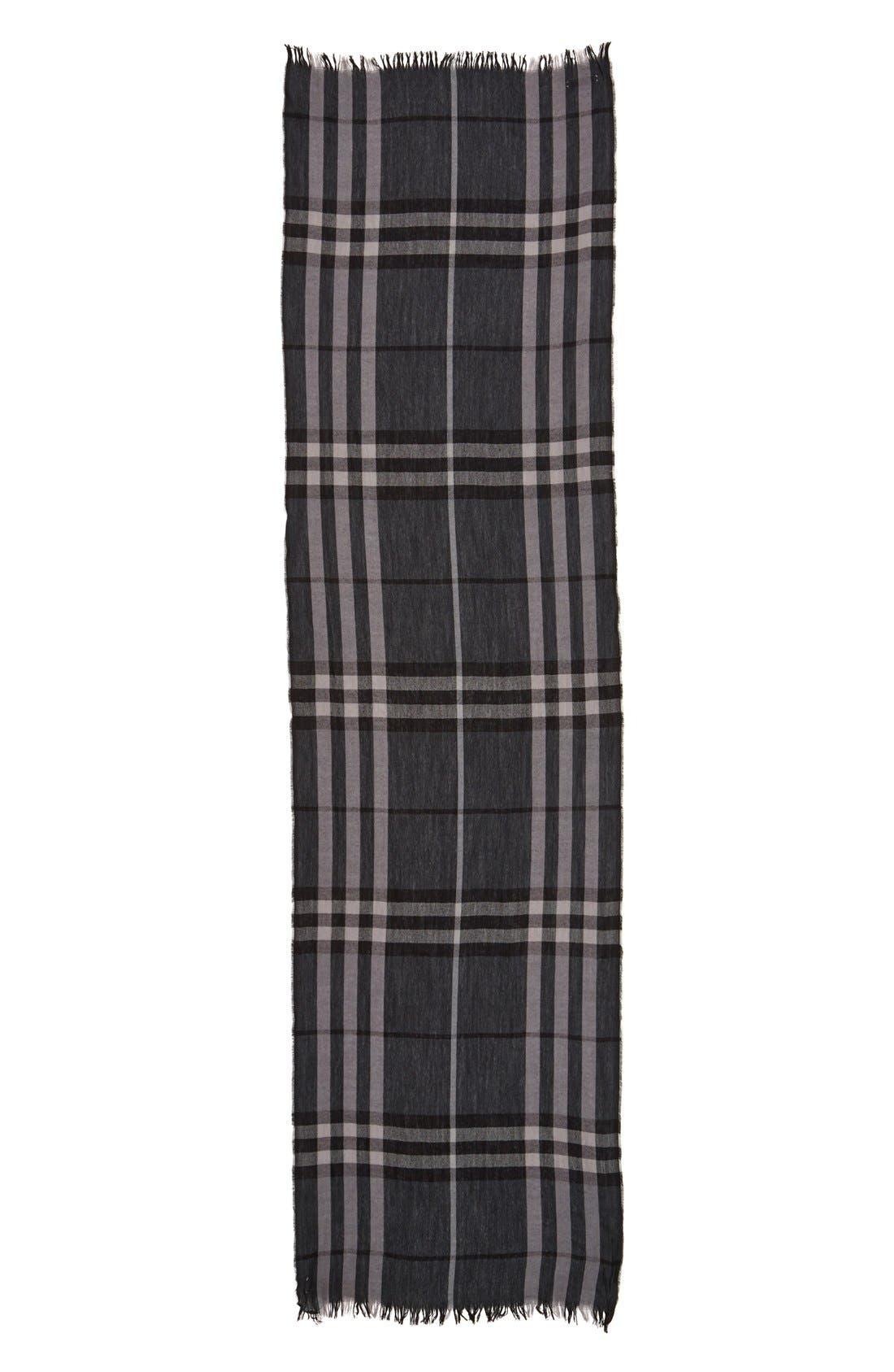 Alternate Image 6  - Burberry Crinkled Merino Wool & Cashmere Scarf
