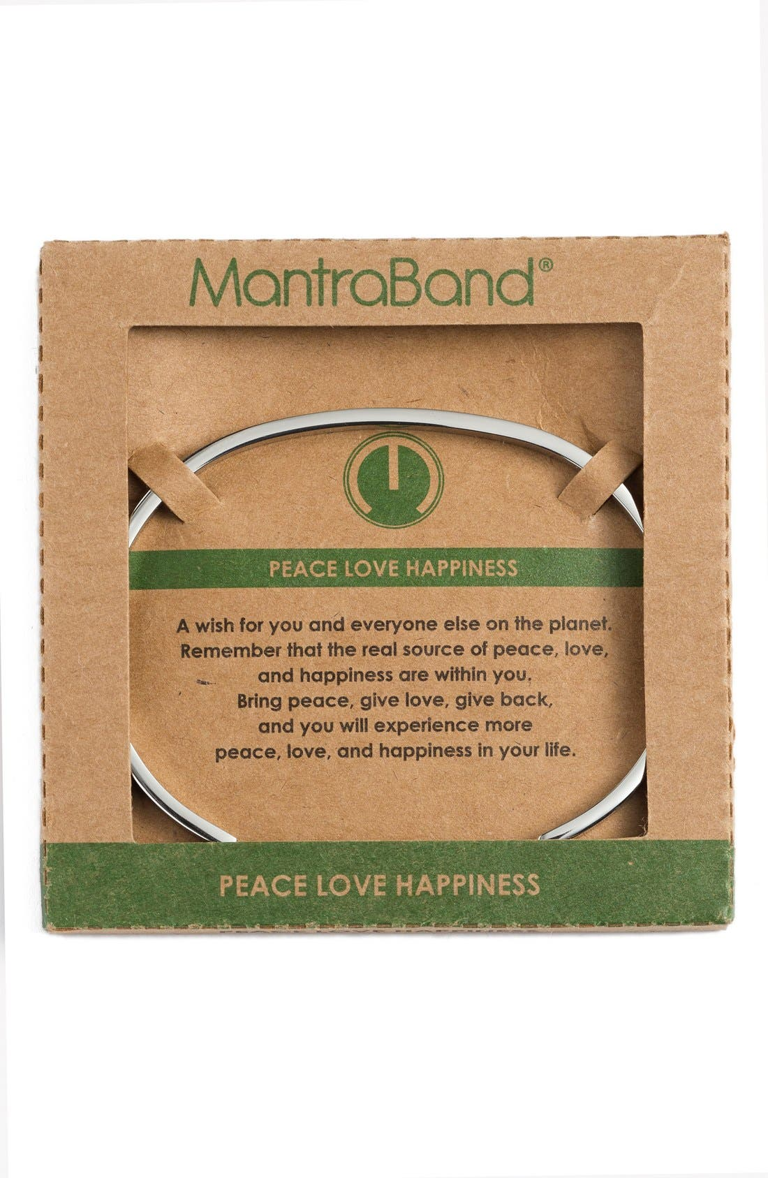 "Alternate Image 2  - MantraBand® ""Peace Love Happiness"" Cuff"