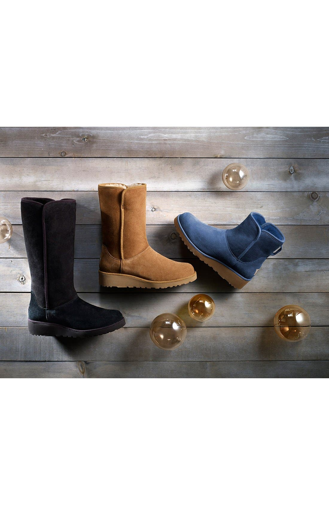 Amie - Classic Slim<sup>™</sup> Water Resistant Short Boot,                             Alternate thumbnail 6, color,                             Chestnut Suede