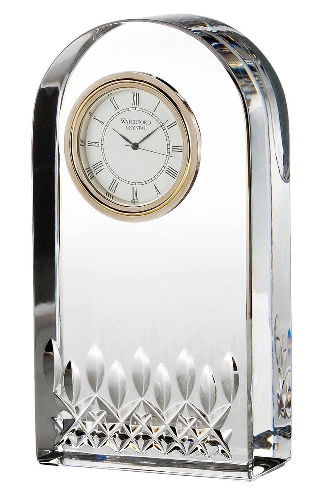 Waterford 'Lismore Essence' Lead Crystal Clock