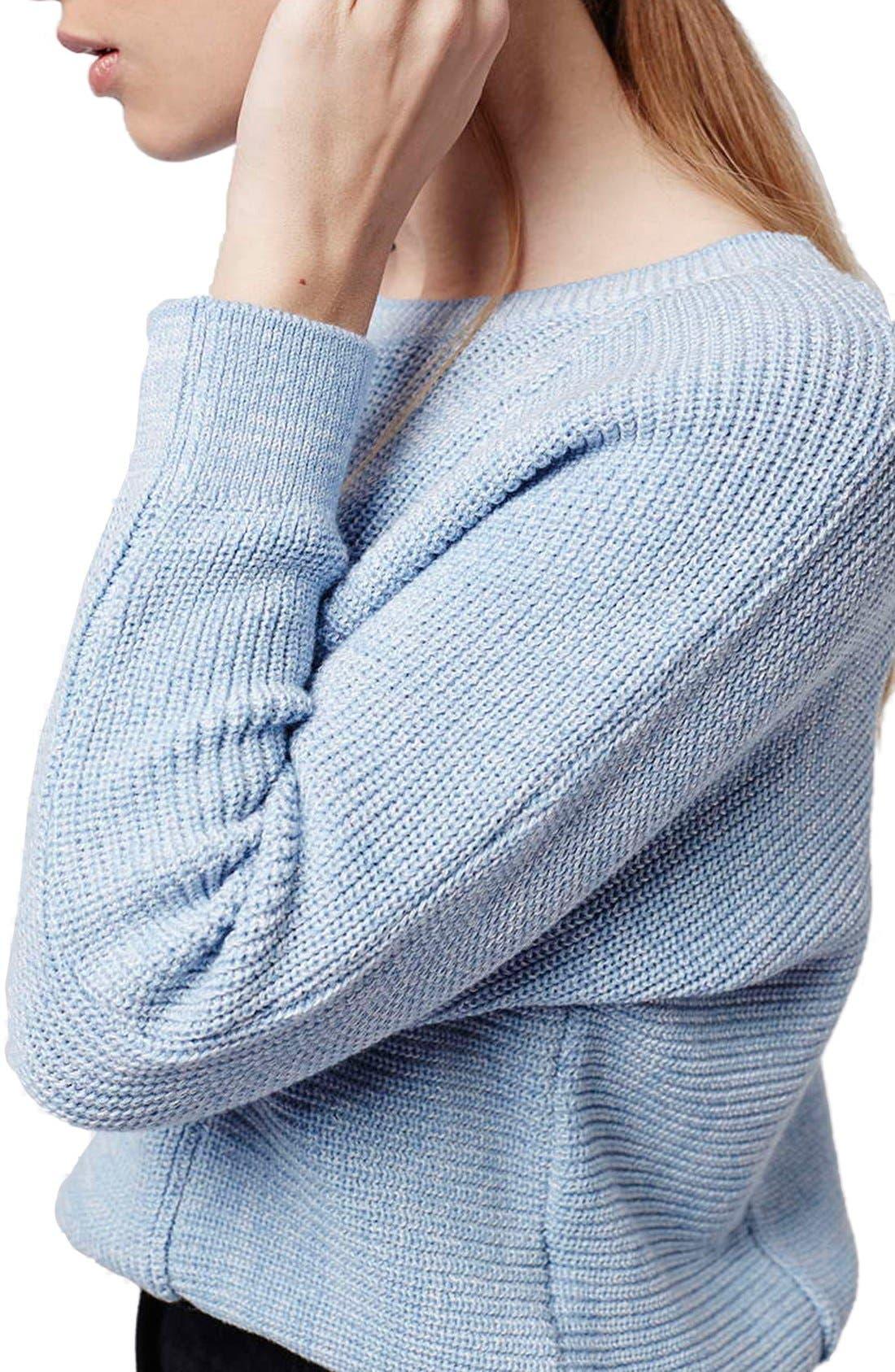 Alternate Image 5  - Topshop Ribbed Crop Sweater