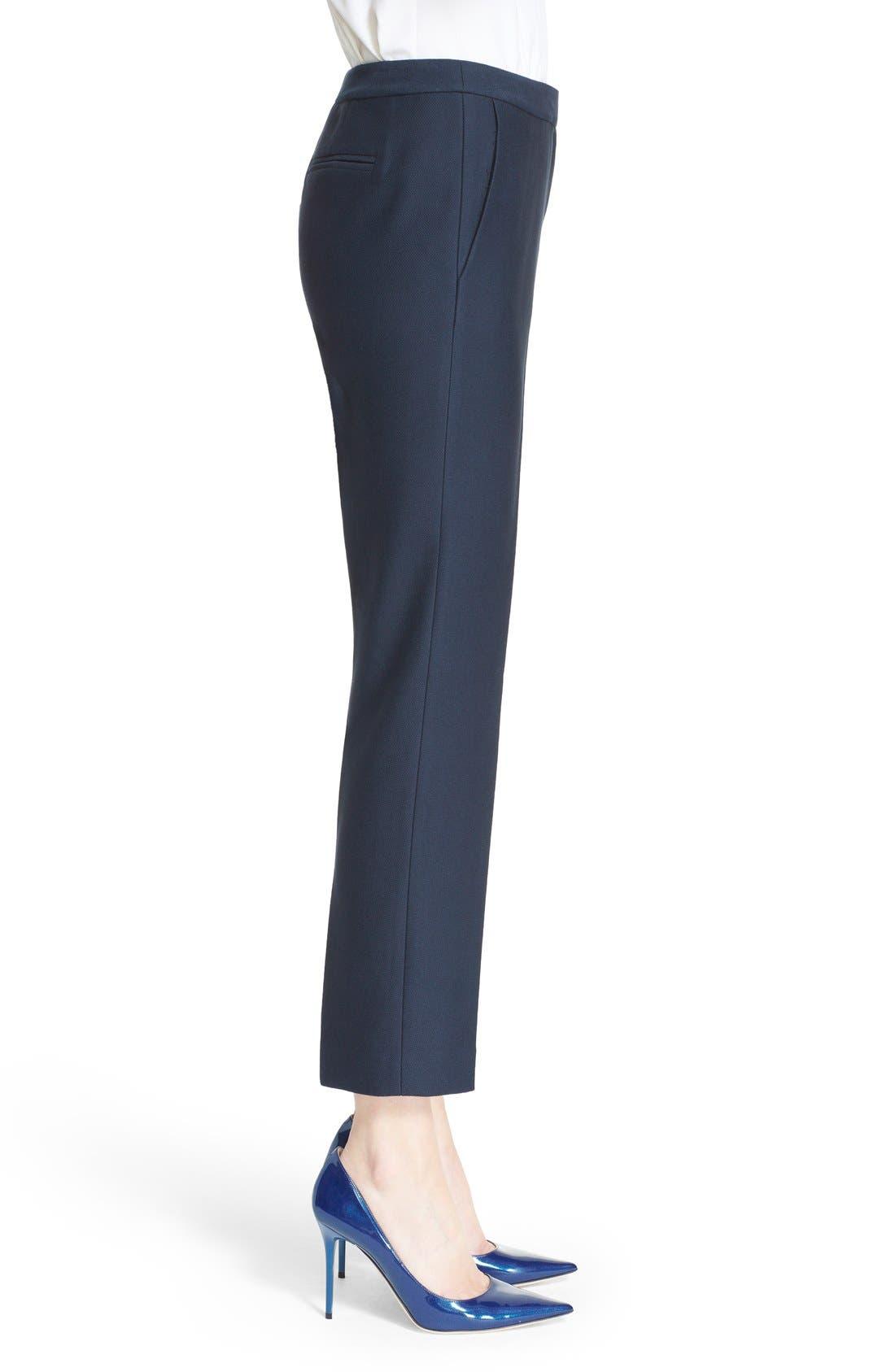 Alternate Image 5  - Nordstrom Signature and Caroline Issa 'Raindrop' Slim Cotton Ankle Pants