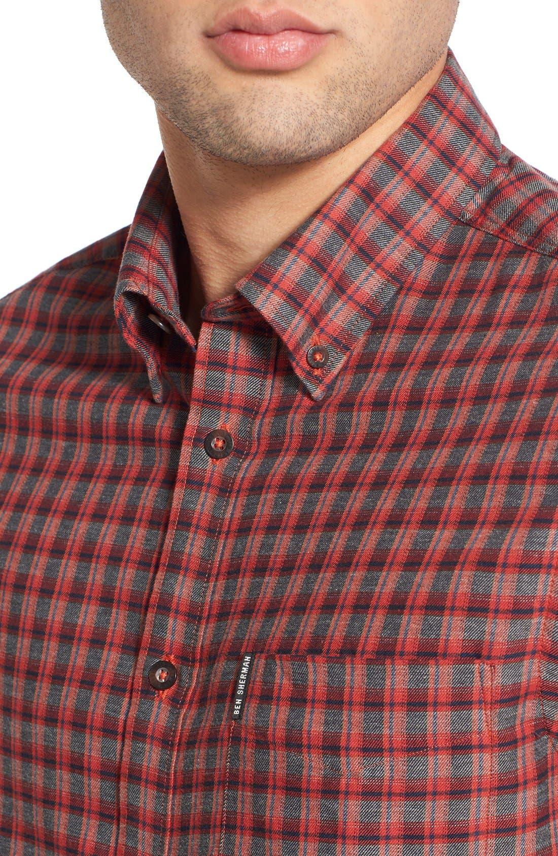 Alternate Image 4  - Ben Sherman Mod Fit Tartan Plaid Sport Shirt