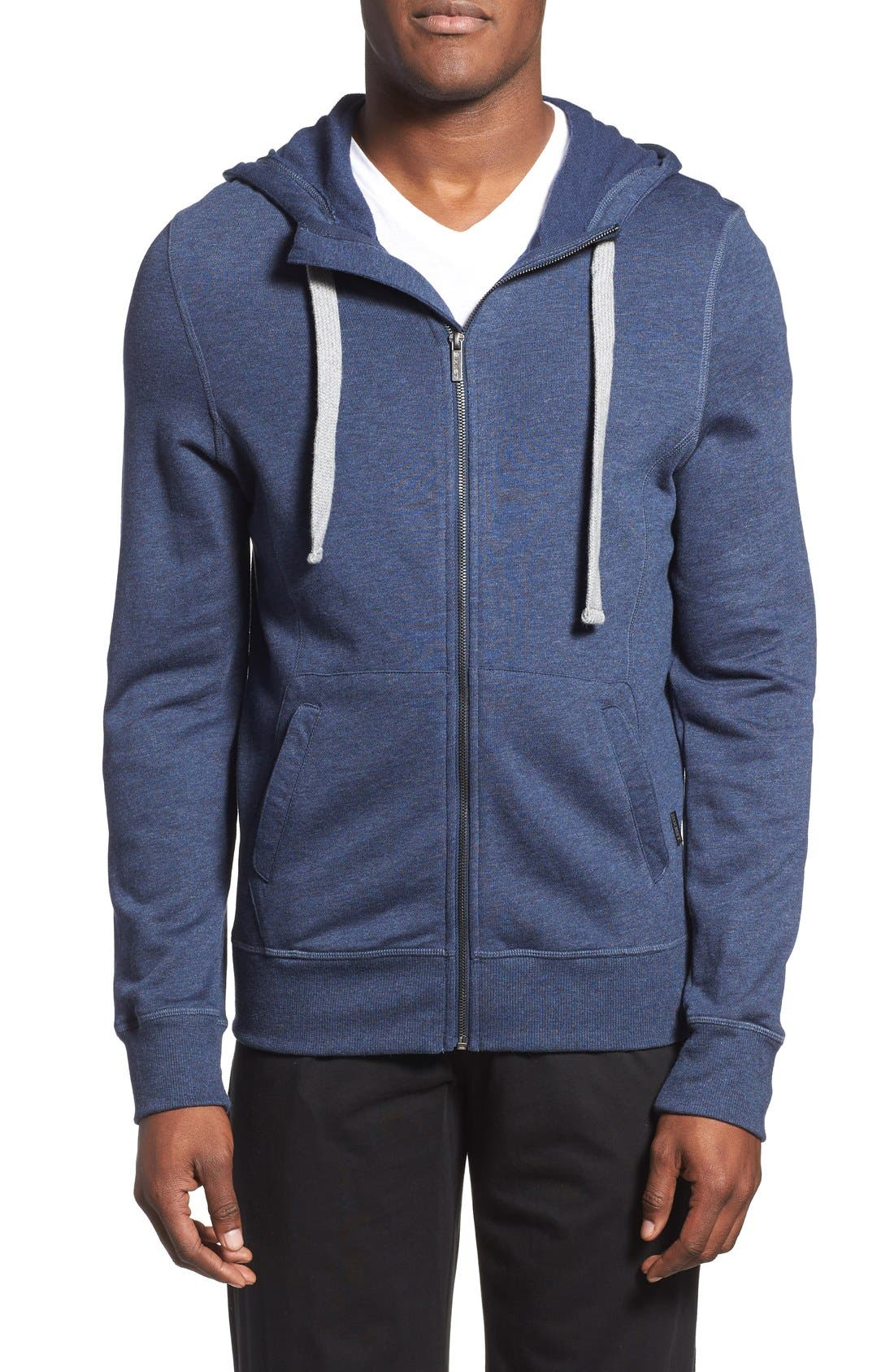 Alternate Image 1 Selected - 2(x)ist 'Terry' Cotton Blend Zip Hoodie