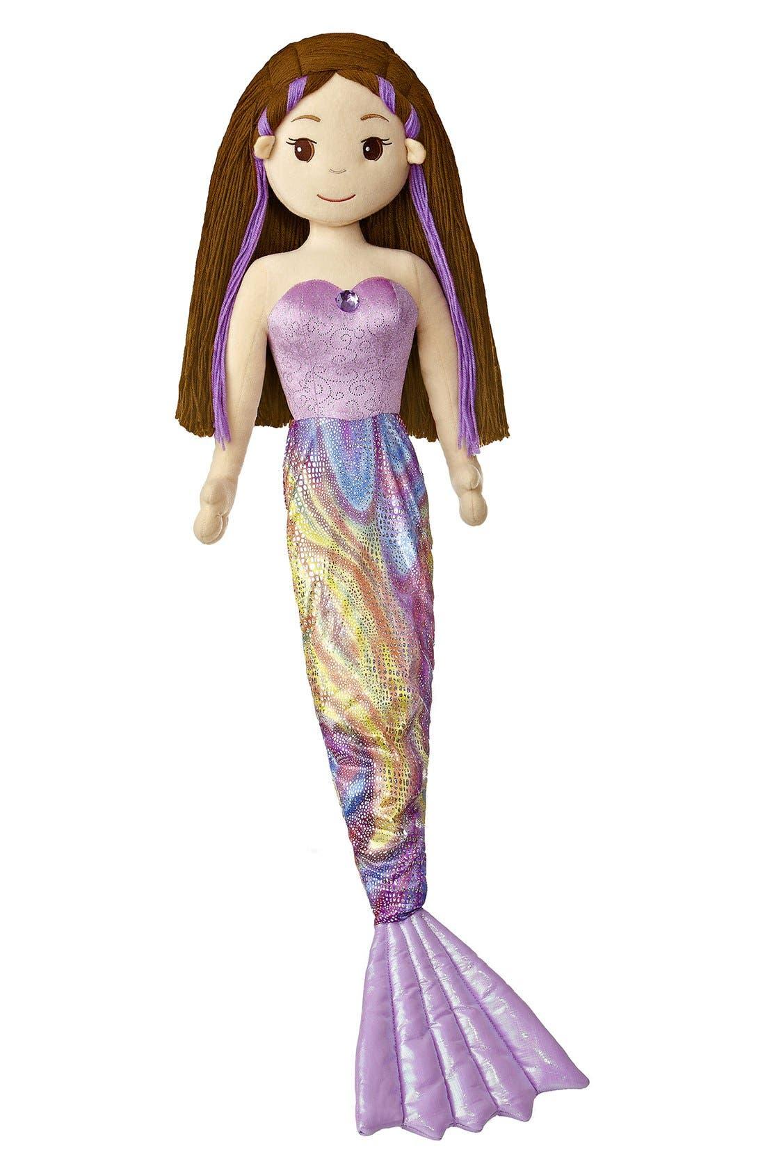 'Merissa' Stuffed Doll,                             Main thumbnail 1, color,                             Purple