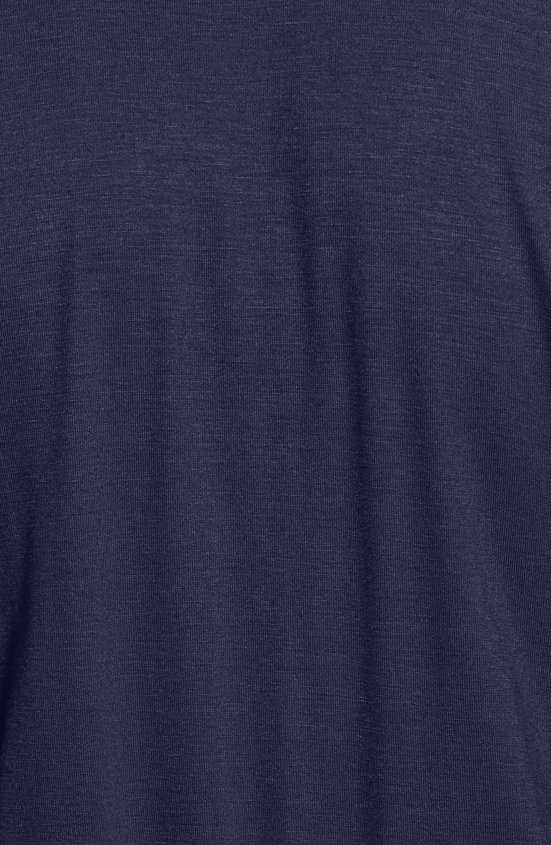 Short Sleeve Wrap Top Jumpsuit,                             Alternate thumbnail 6, color,                             Midnight Blue