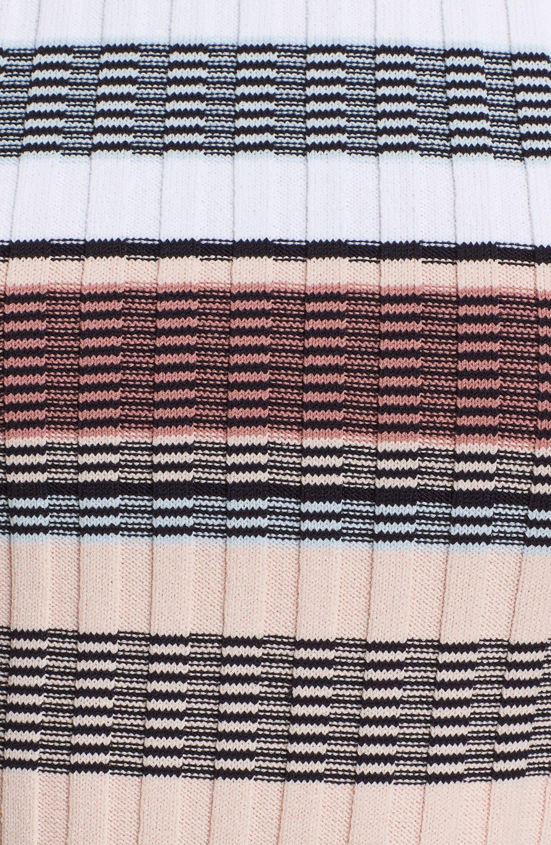 Stripe Racerback Crop Top,                             Alternate thumbnail 5, color,                             Pink Multi