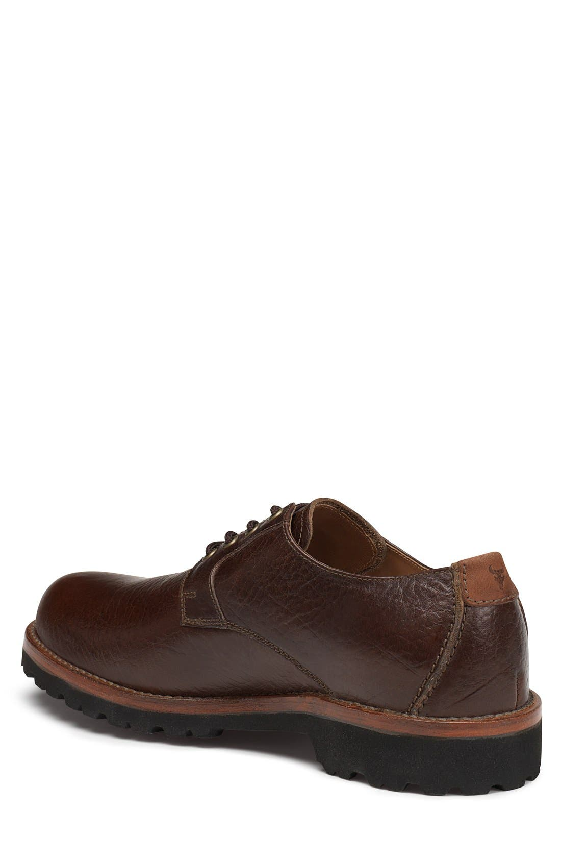 'Gallatin II' Oxford,                             Alternate thumbnail 2, color,                             Bourbon Leather