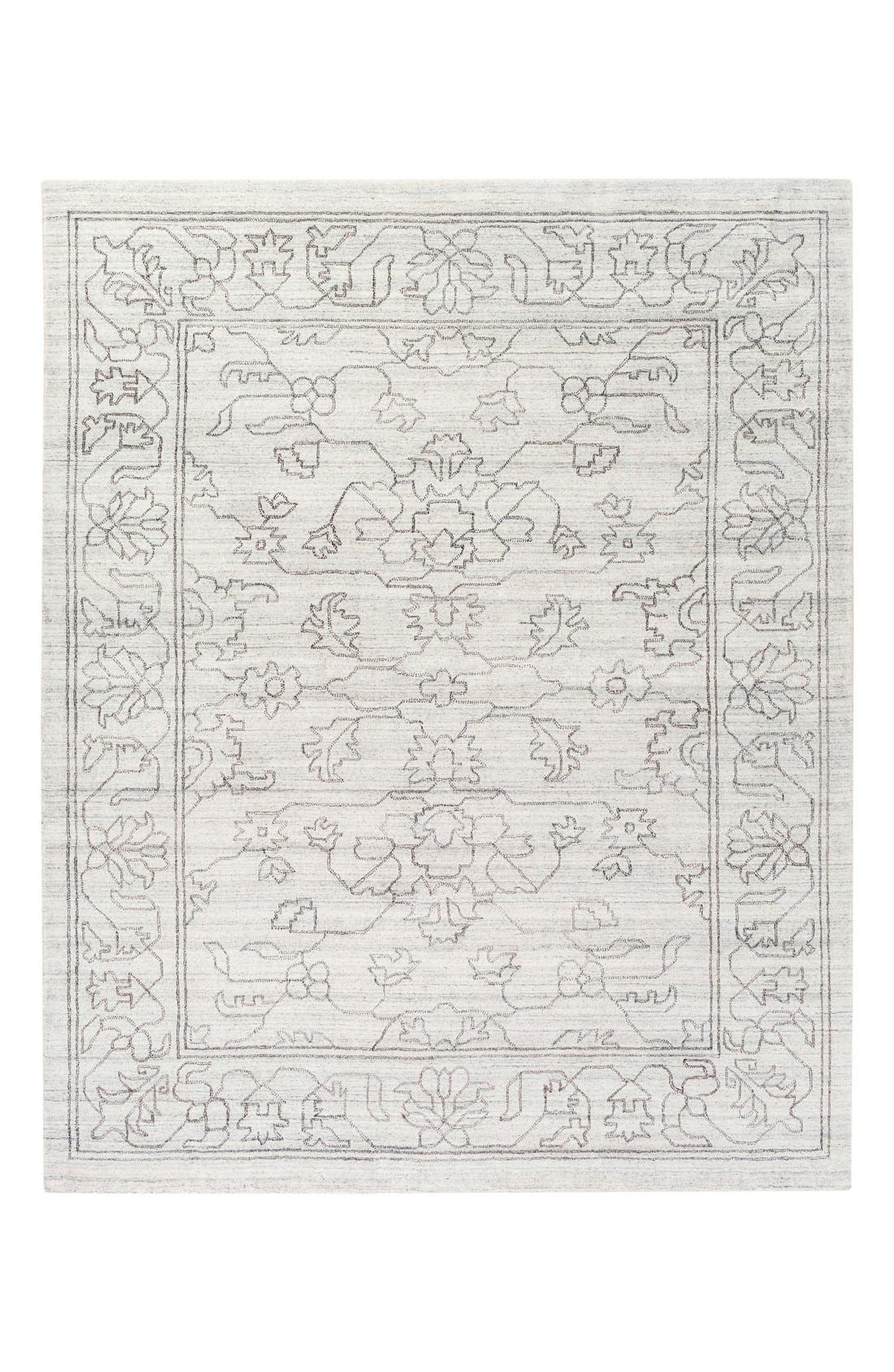 'Hightower' Hand Loomed Rug,                             Alternate thumbnail 3, color,                             Grey