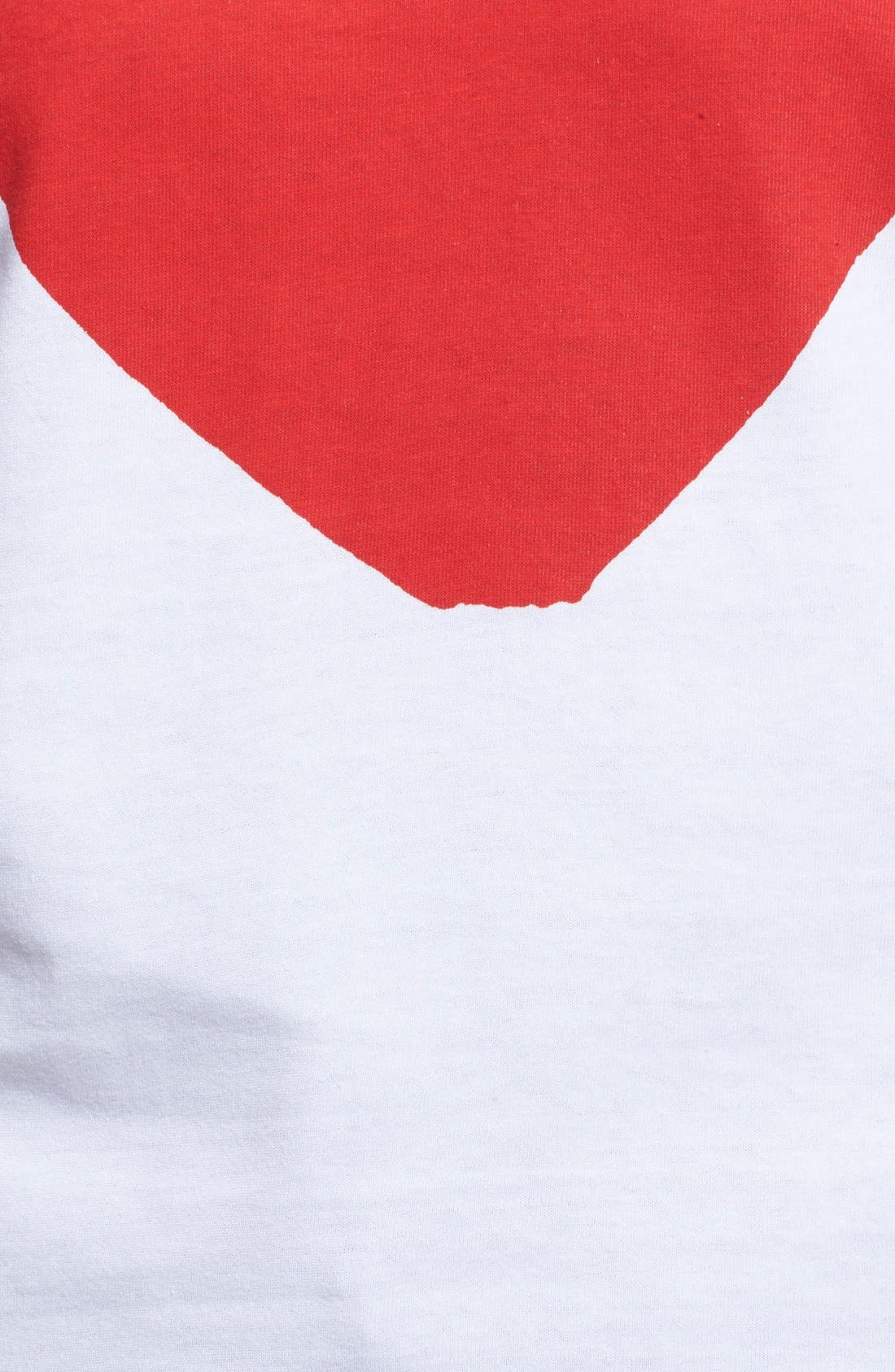Comme des Garçons PLAY Graphic Cotton Tee,                             Alternate thumbnail 5, color,                             White