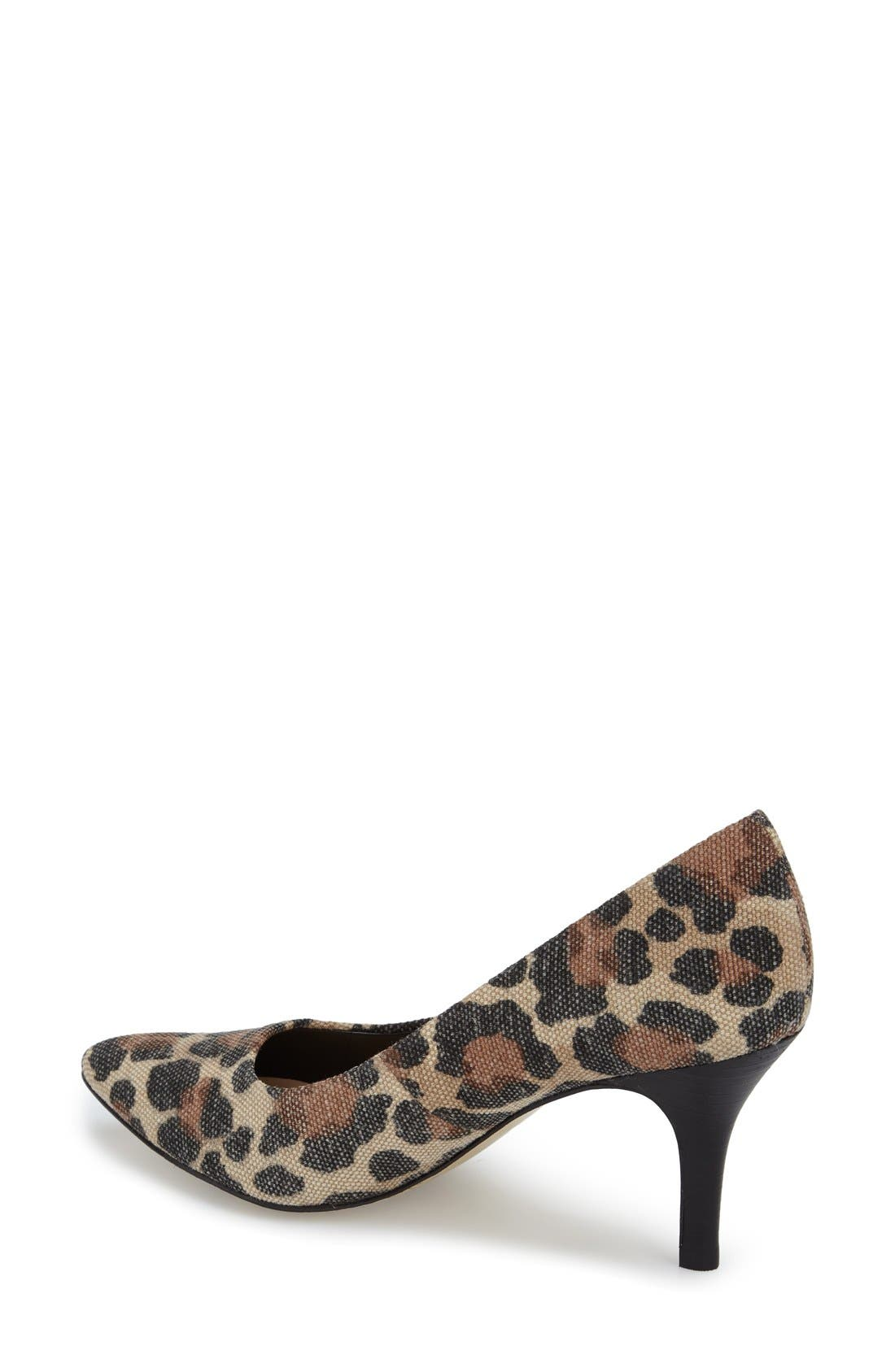 'Define' Pointy Toe Pump,                             Alternate thumbnail 2, color,                             Leopard