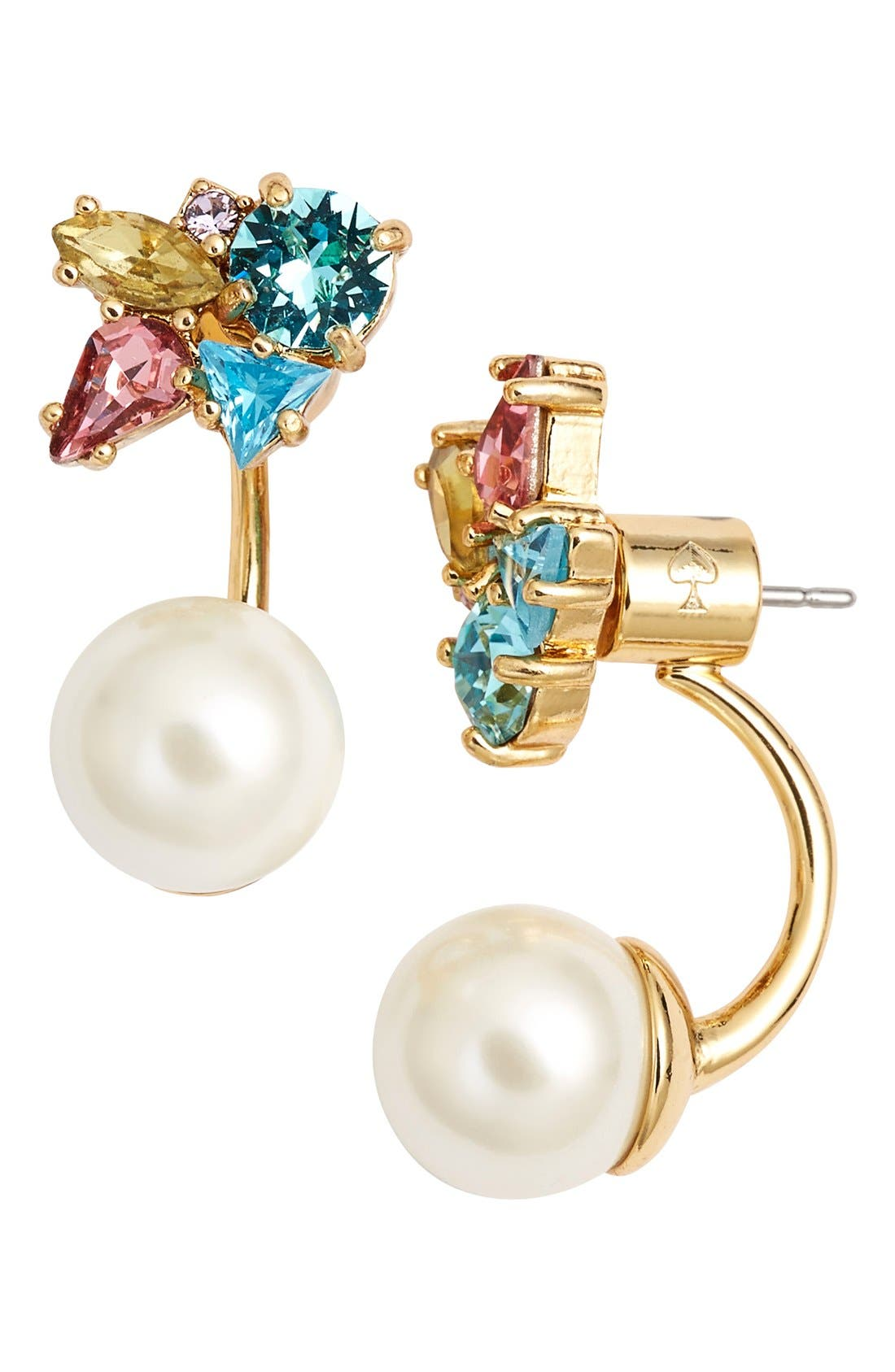 Main Image - kate spade new york 'dainty sparklers' drop back earrings