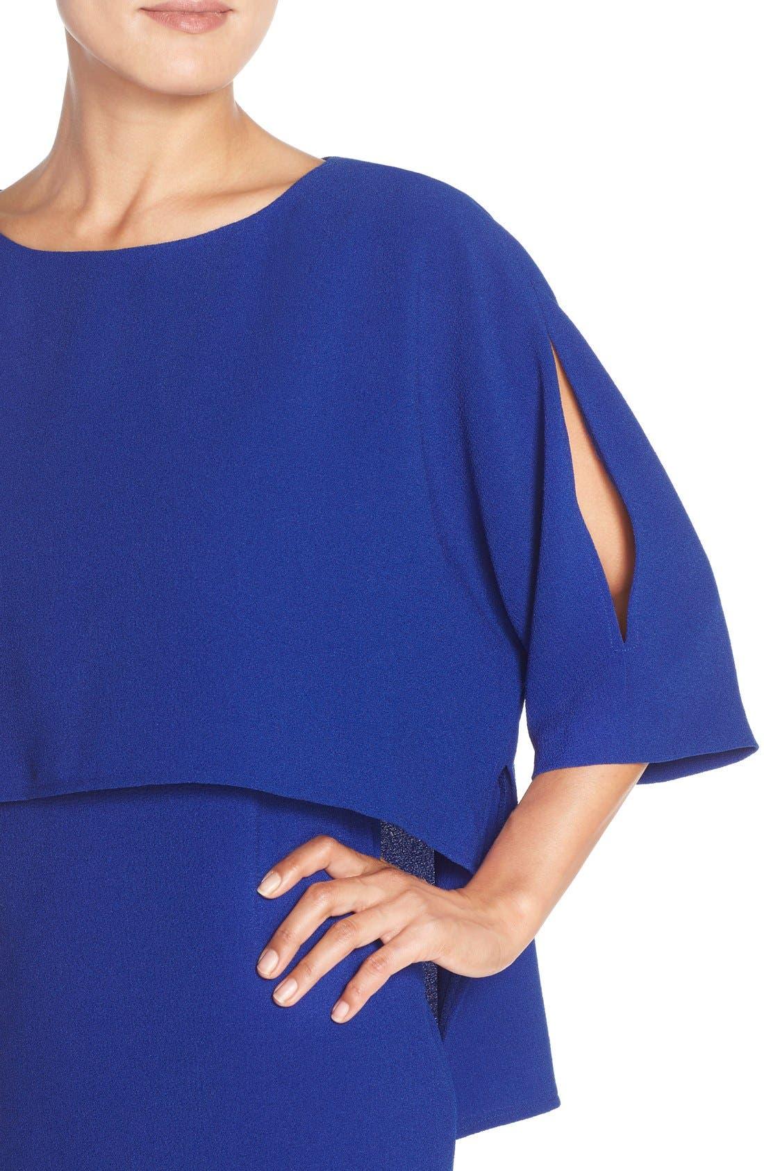 Alternate Image 5  - Adrianna Papell Draped Blouson Sheath Dress