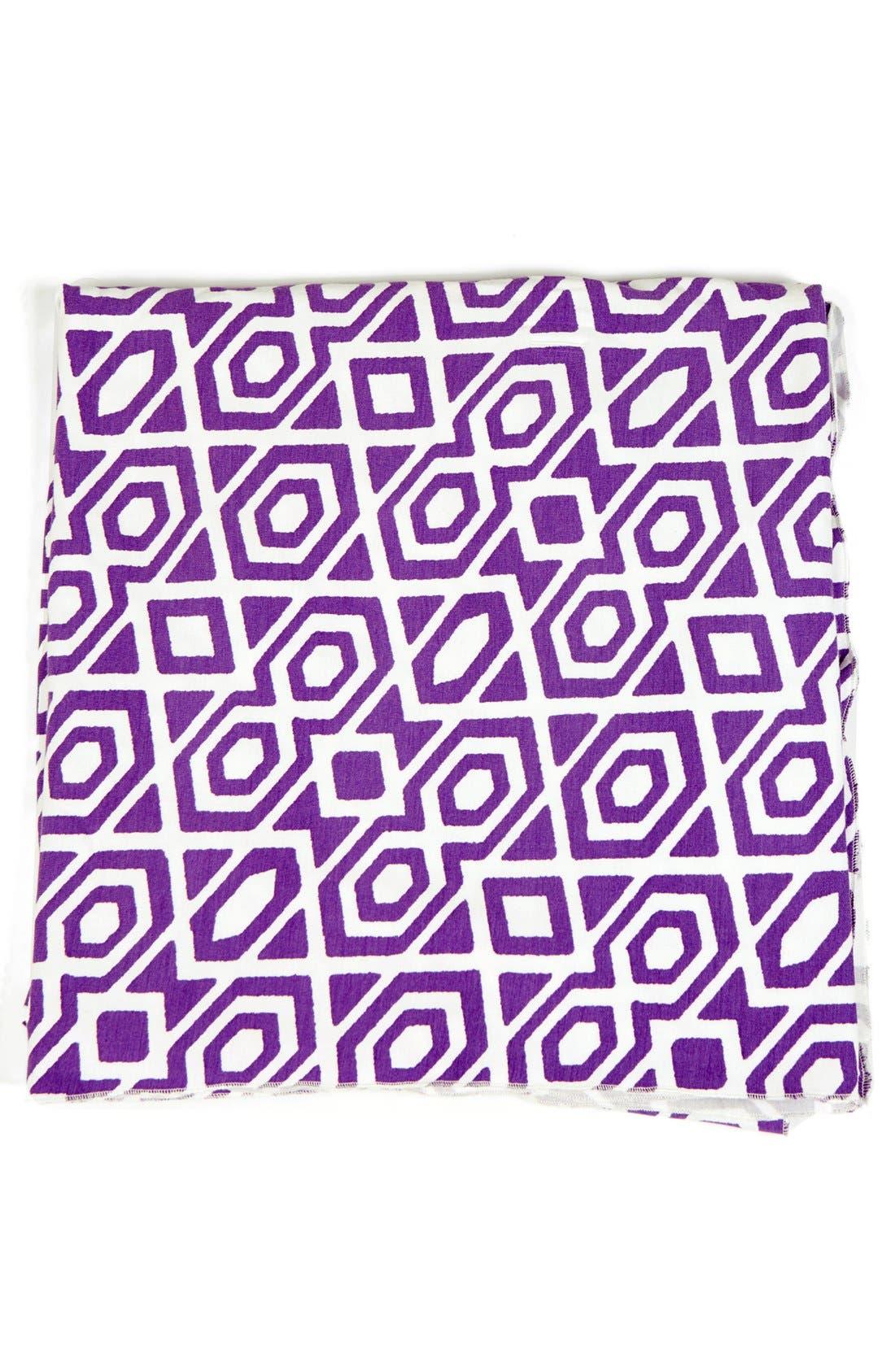 UPF 50 Print Blanket,                             Main thumbnail 1, color,                             Lavender Diamond