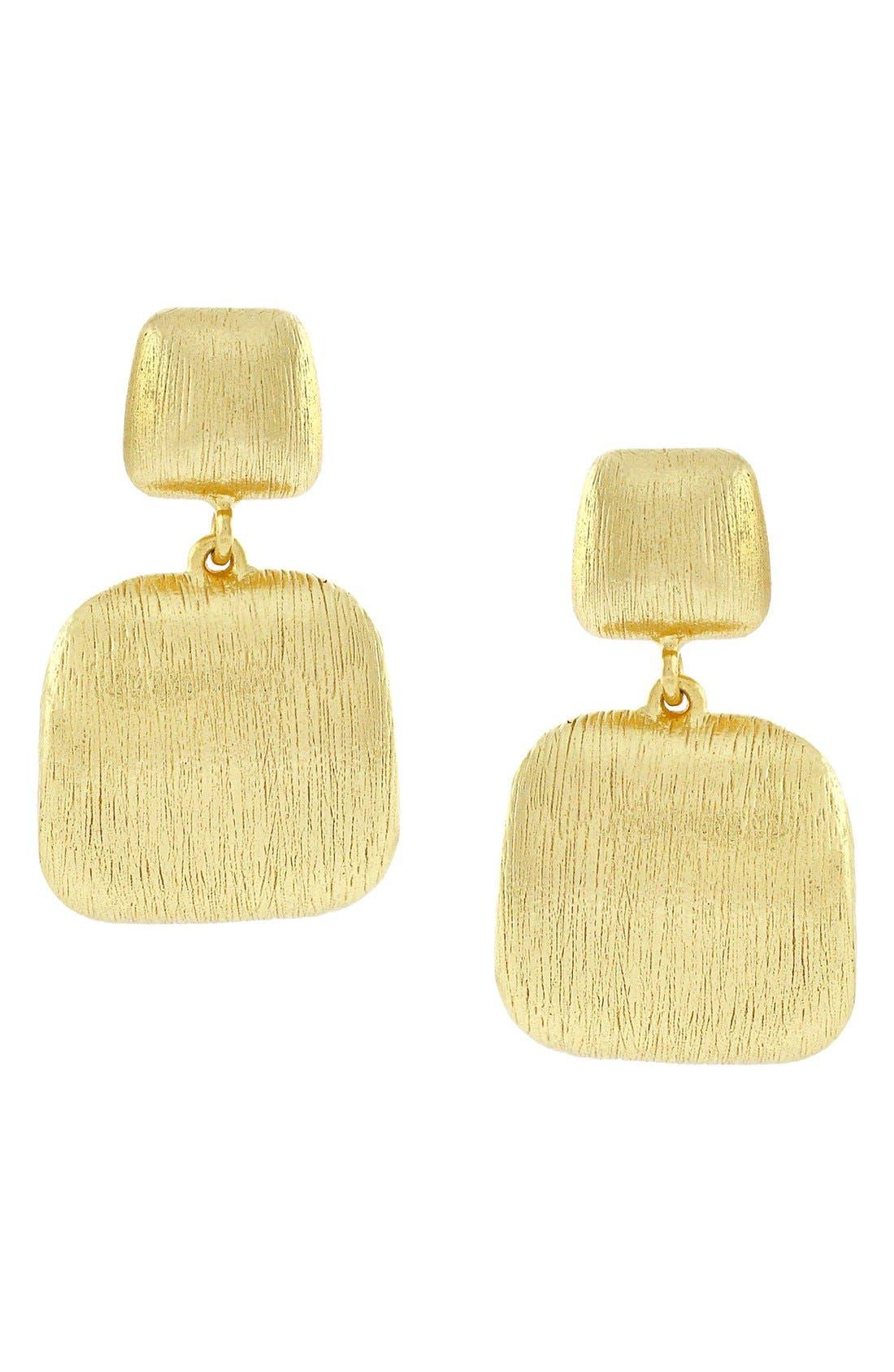 Alternate Image 1 Selected - Cole Haan Geometric Post Drop Earrings