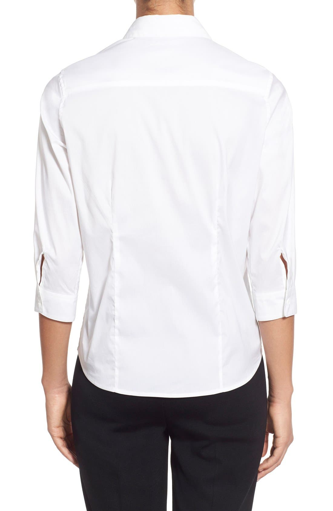 Alternate Image 2  - Ming Wang Stretch Poplin Shirt