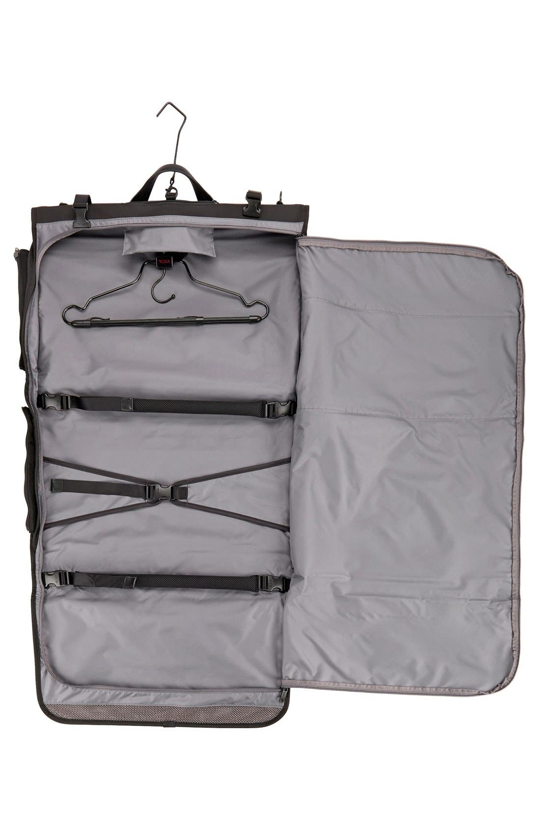 Alpha 2 22-Inch Trifold Carry-On Garment Bag,                             Alternate thumbnail 5, color,                             Black