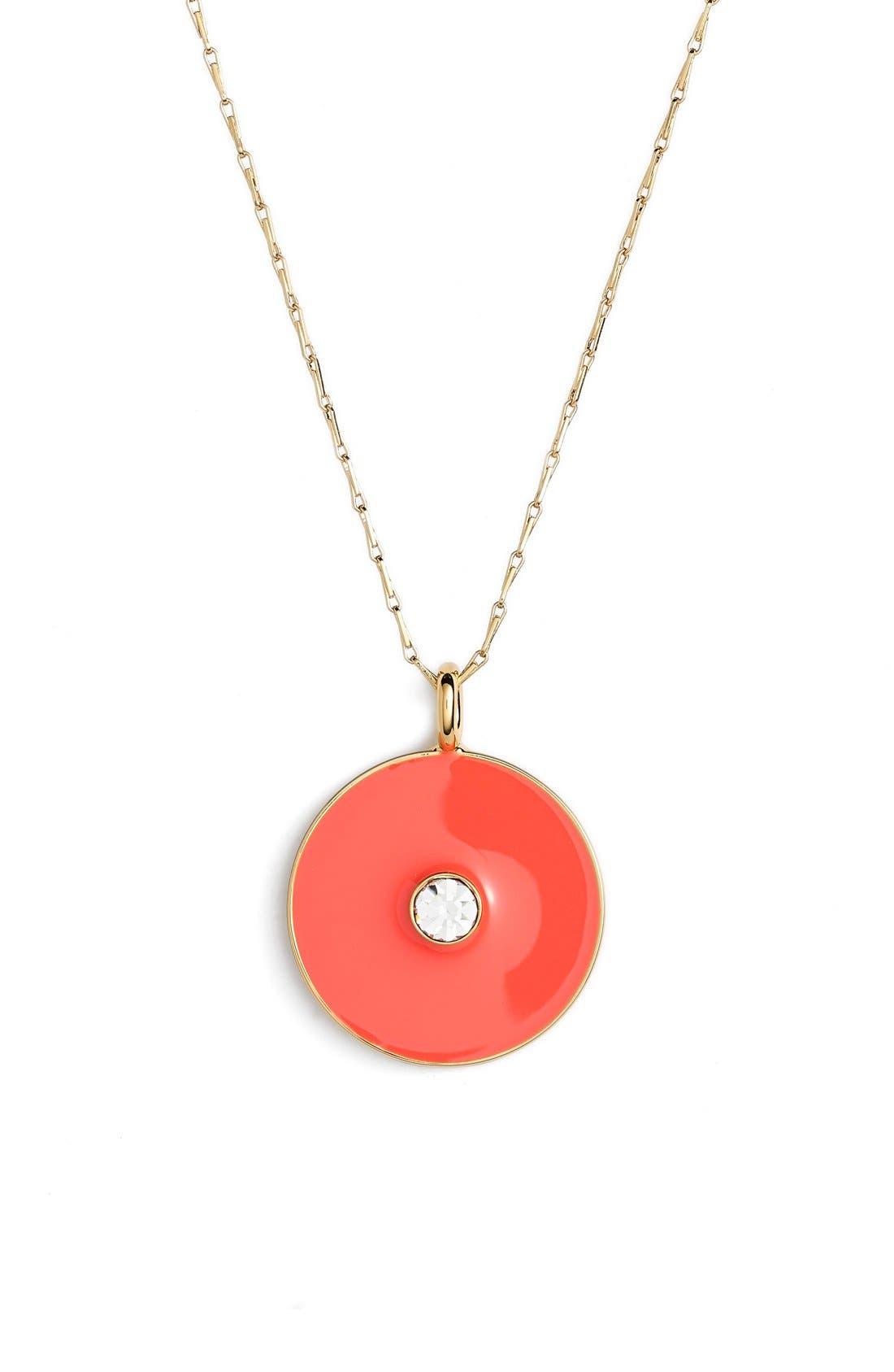 Alternate Image 1 Selected - kate spade new york reversible enamel pendant necklace