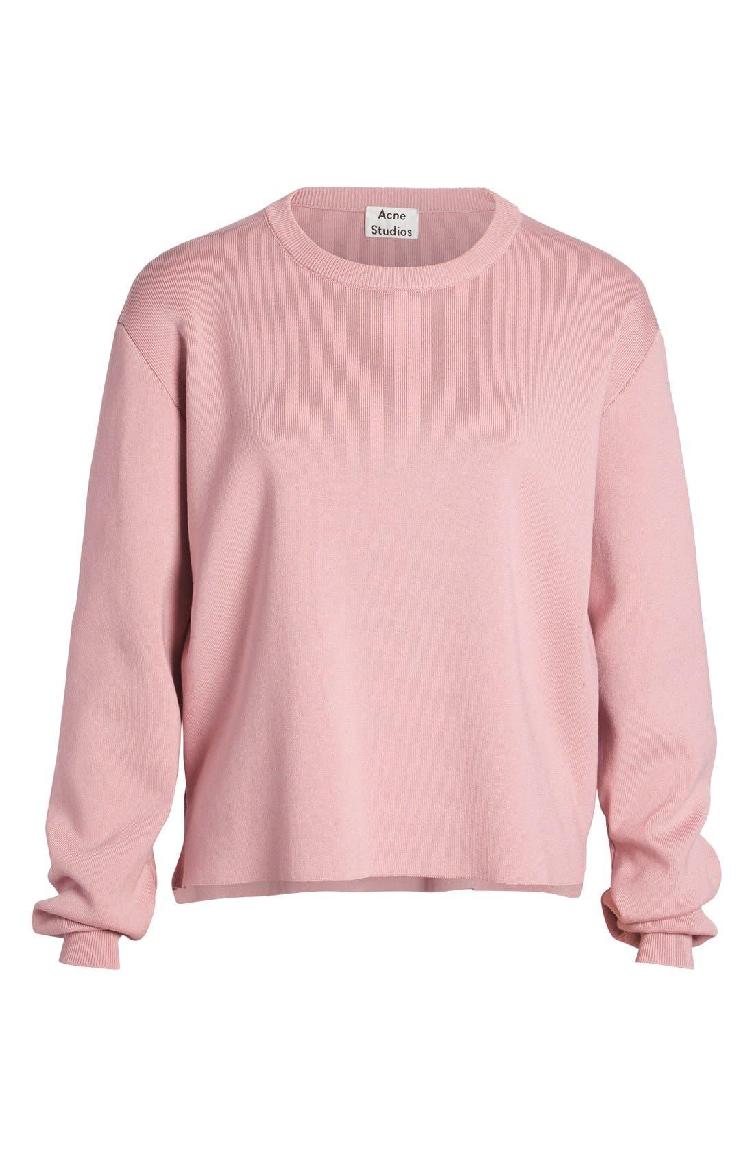 Alternate Image 4  - ACNE 'Misty Clean' Cotton Crewneck Sweater