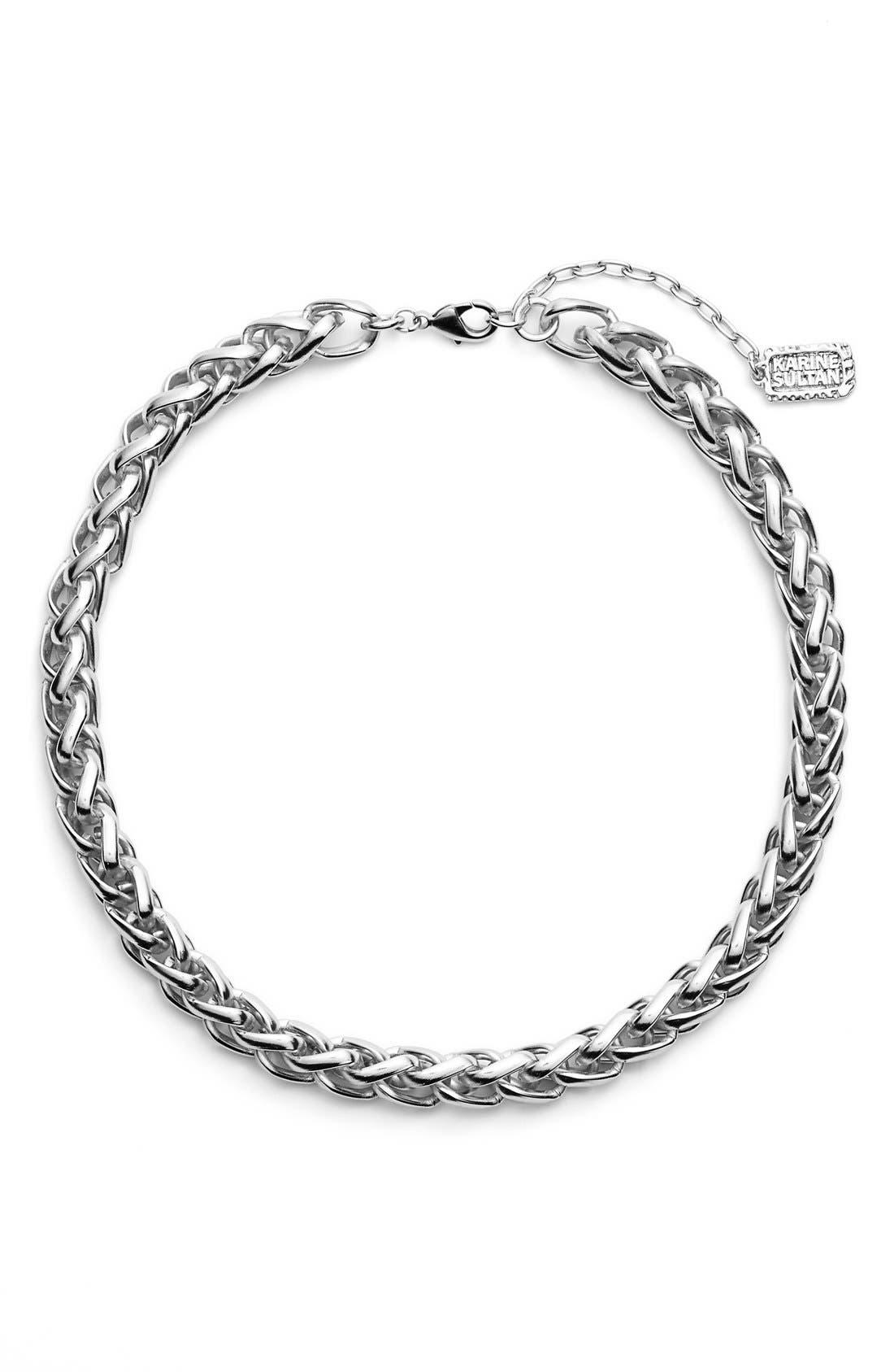 Main Image - Karine Sultan Braided Link Collar Necklace
