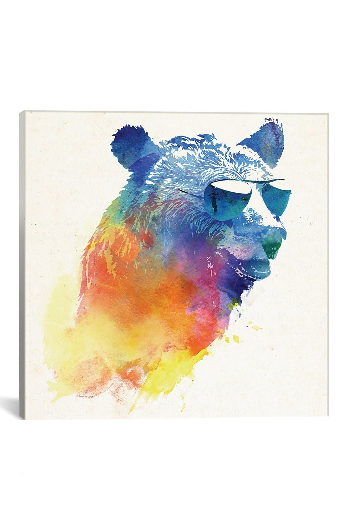 'Sunny Bear' Giclée Print Canvas Art,                             Main thumbnail 1, color,                             Blue