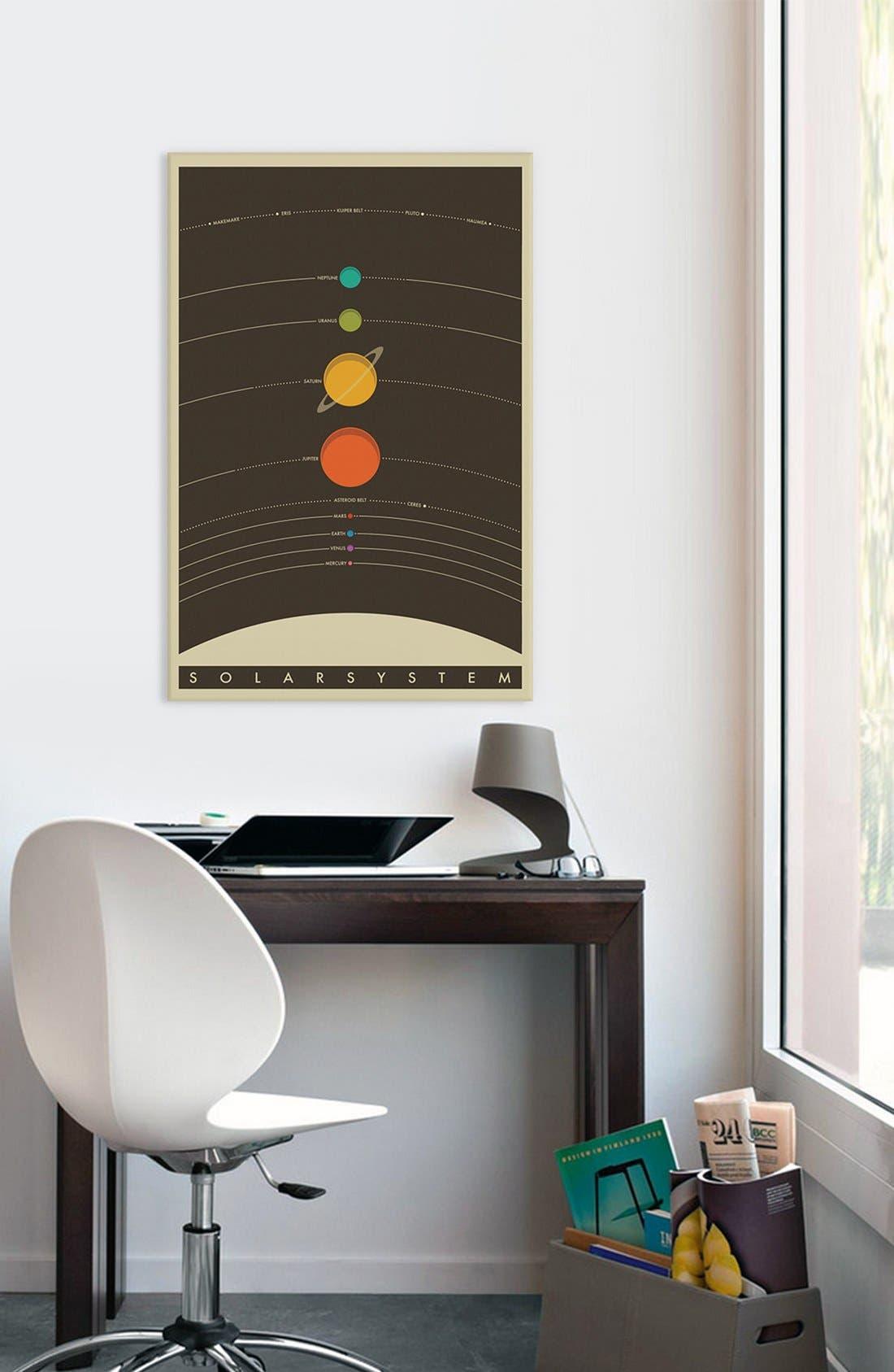'Solar System' Giclée Print Canvas Art,                             Alternate thumbnail 2, color,                             Black