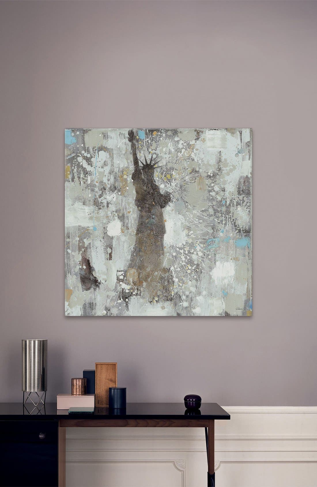 'Statue of Liberty' Giclée Print Canvas Art,                             Alternate thumbnail 2, color,                             Grey