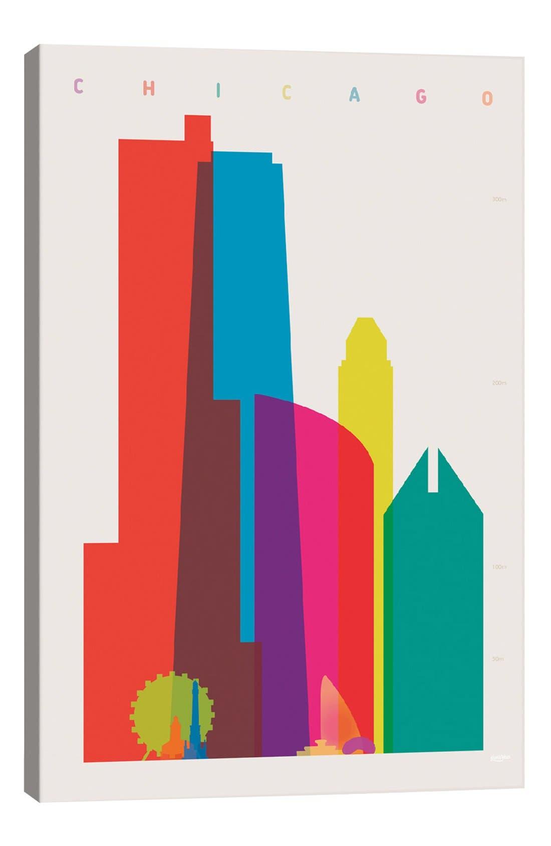 'Chicago' Giclée Print Canvas Art,                         Main,                         color, White
