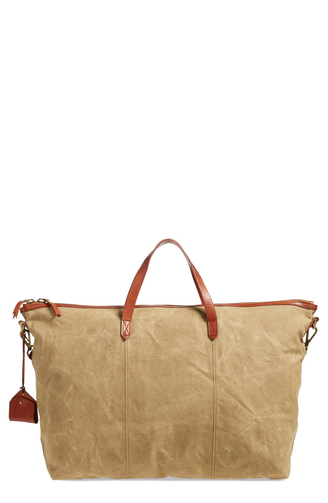 The Transport Canvas Weekend Bag,                             Main thumbnail 1, color,                             Truffle