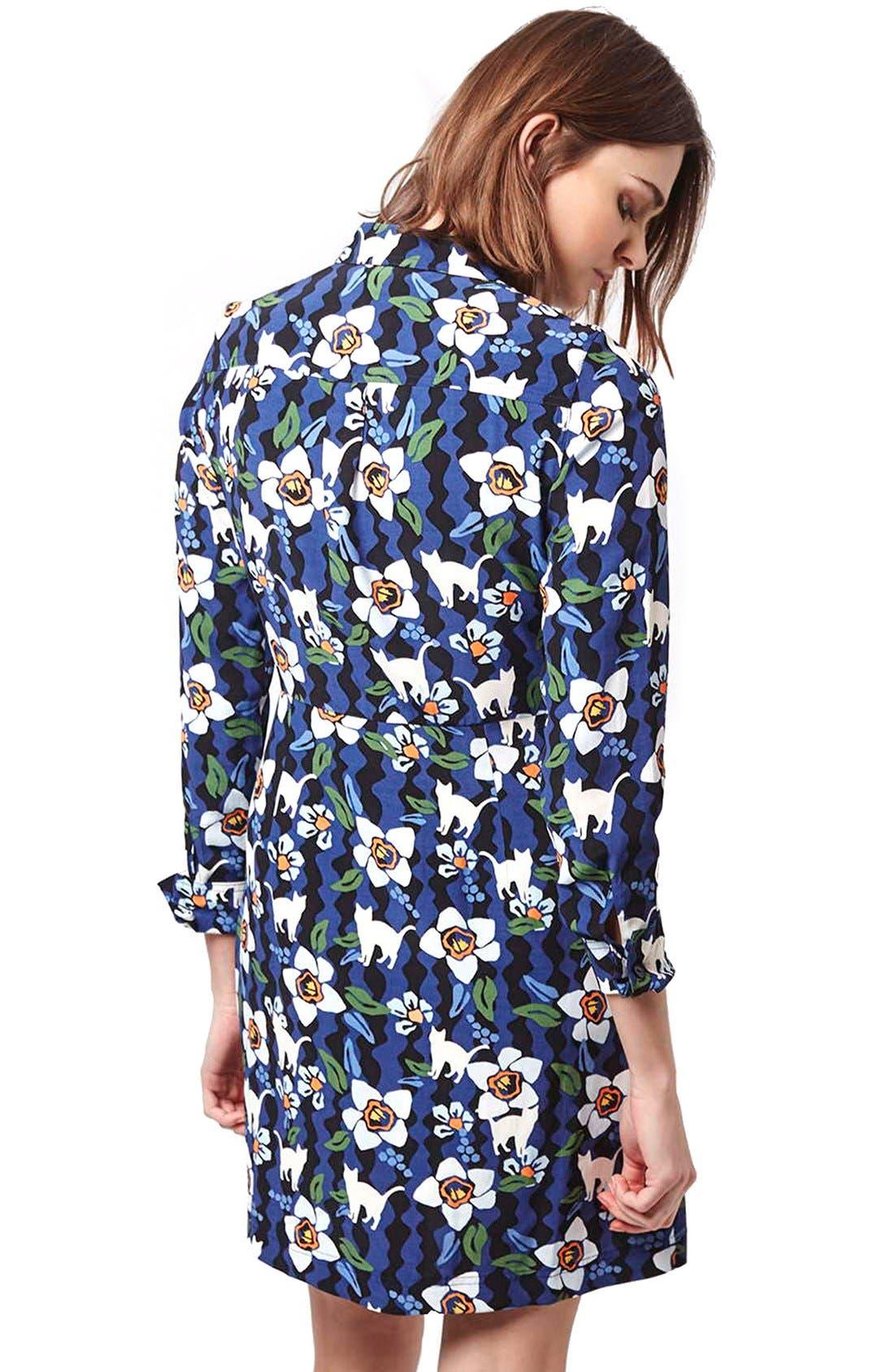 Alternate Image 2  - Topshop Kitten Floral Shirtdress (Regular & Petite)