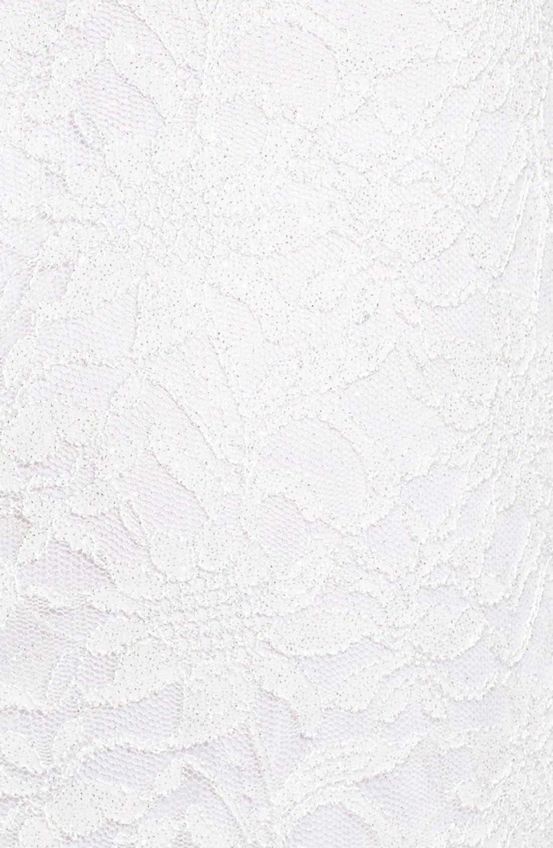 Alternate Image 5  - Speechless Glitter Lace Two-Piece Sheath Dress